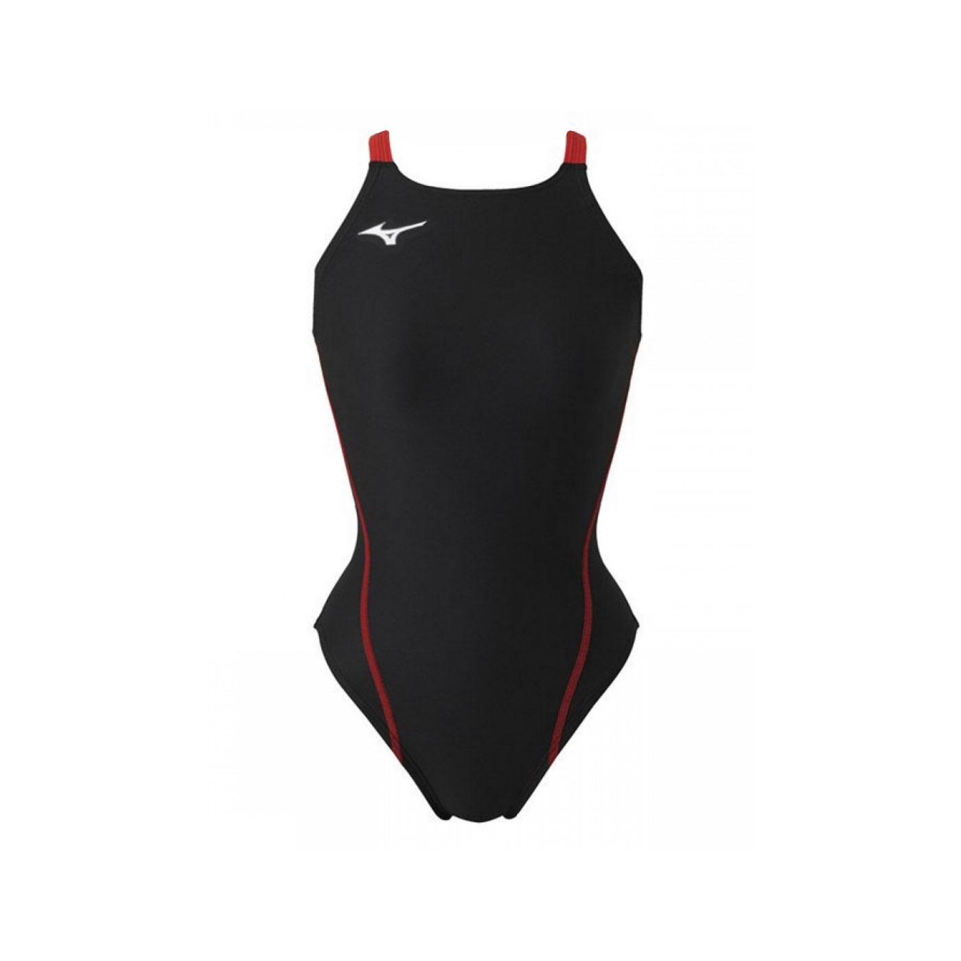 MIZUNO 女款連身泳衣  SWIMN2MA826196 - 黑紅
