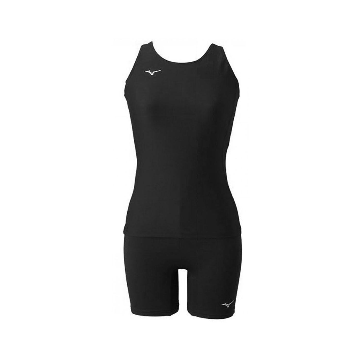 MIZUNO 女款兩件式泳衣 N2MG1C0109 - 黑銀