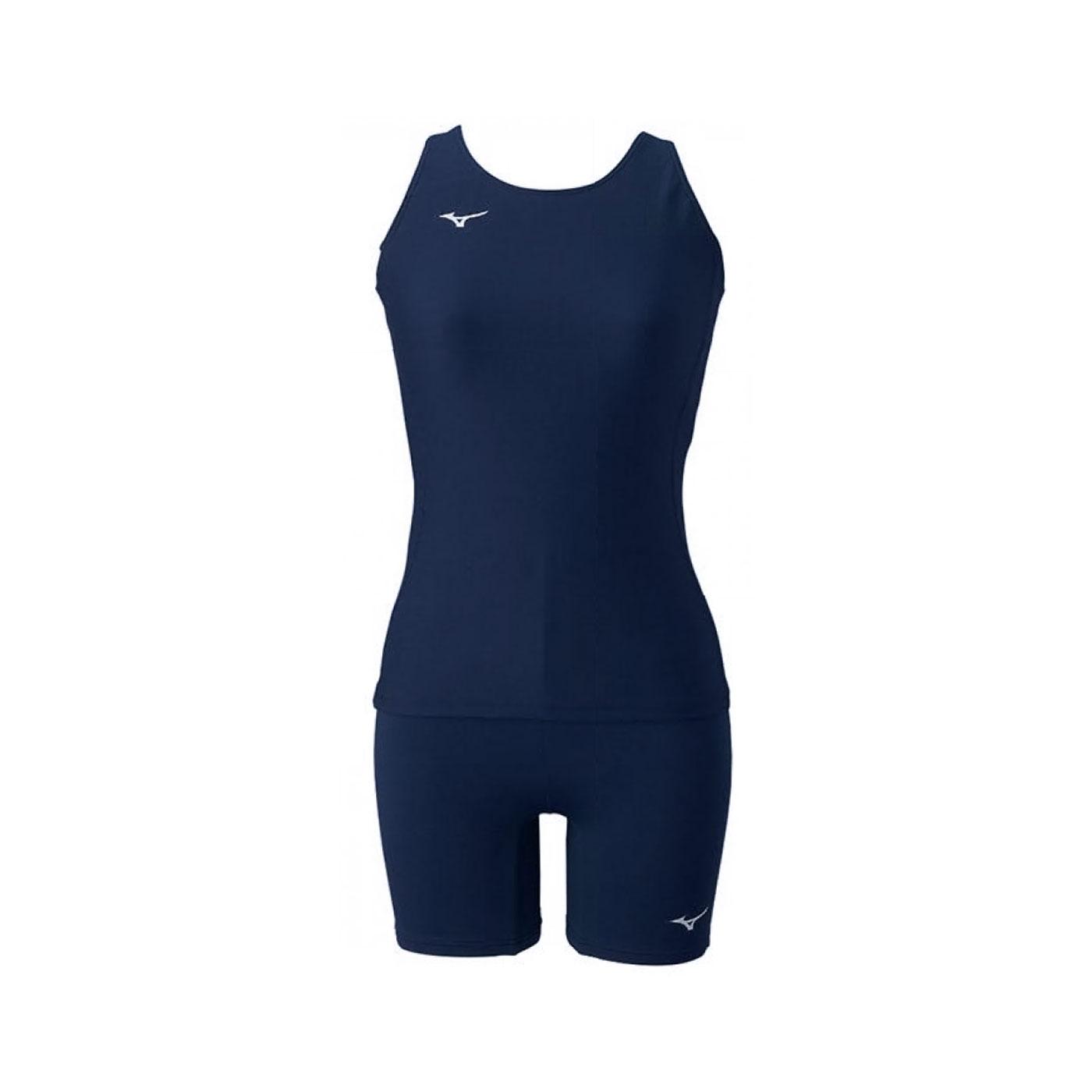 MIZUNO 女款兩件式泳衣 N2MG1C0114 - 丈青銀