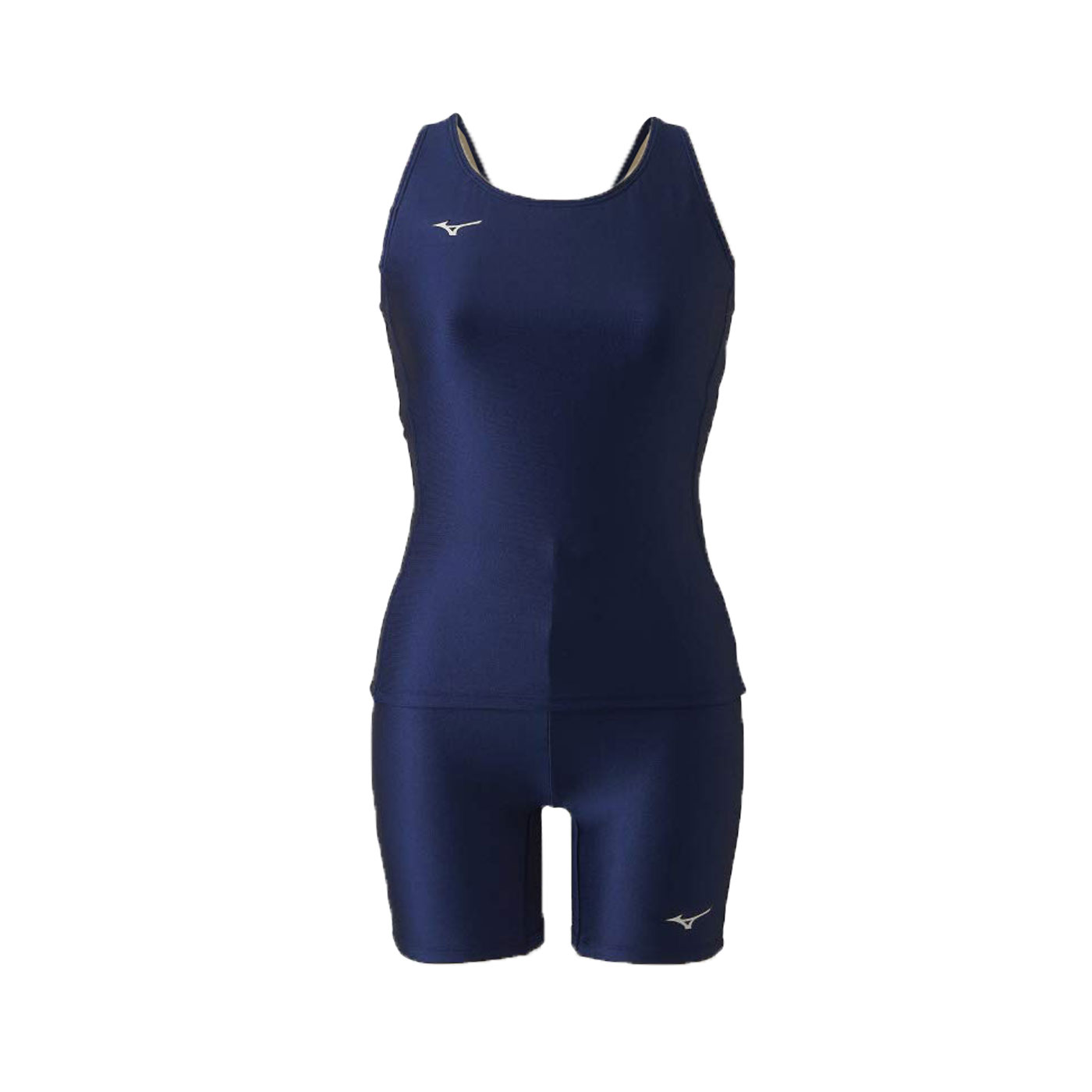 MIZUNO 女款兩件式泳裝  SWIMN2MG9C0109 - 丈青銀