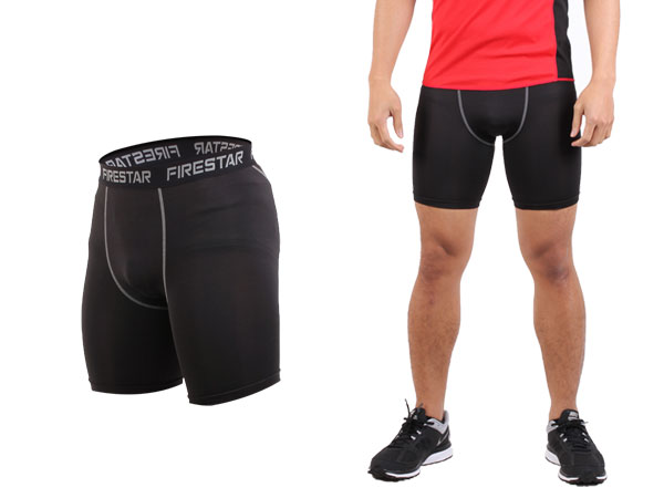 FIRESTAR 機能緊身短褲 N3802-10 - 黑灰