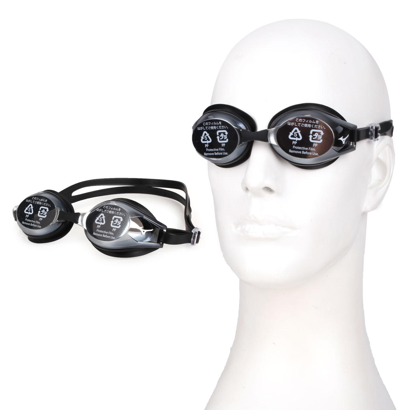 MIZUNO 日製基本泳鏡  SWIMN3JE601100-09 - 灰黑白