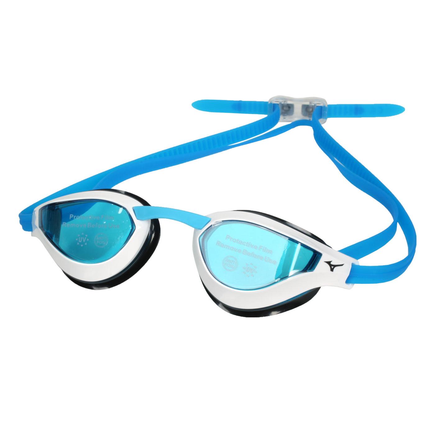 MIZUNO 泳鏡  SWIMN3TE951000-02 - 黑白藍