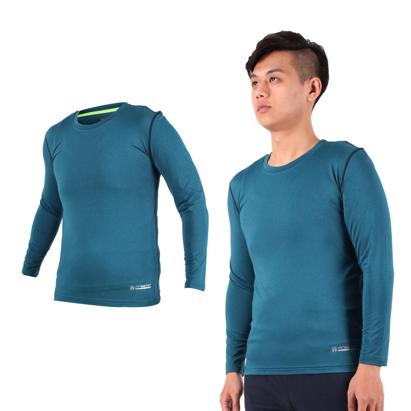 FIRESTAR 男款機能緊身長袖上衣 N7908-17 - 藍灰