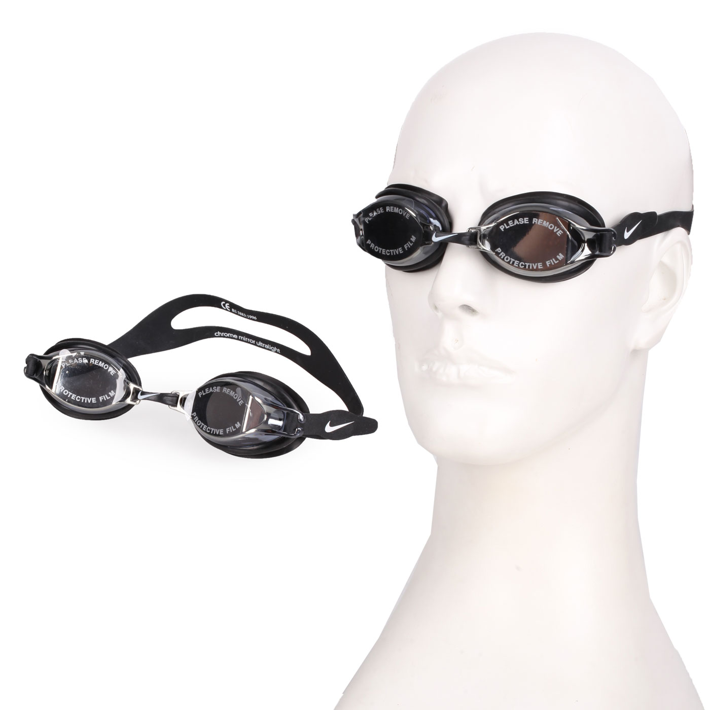 NIKE SWIM 訓練型成人泳鏡 NESS7152-001 - 黑白