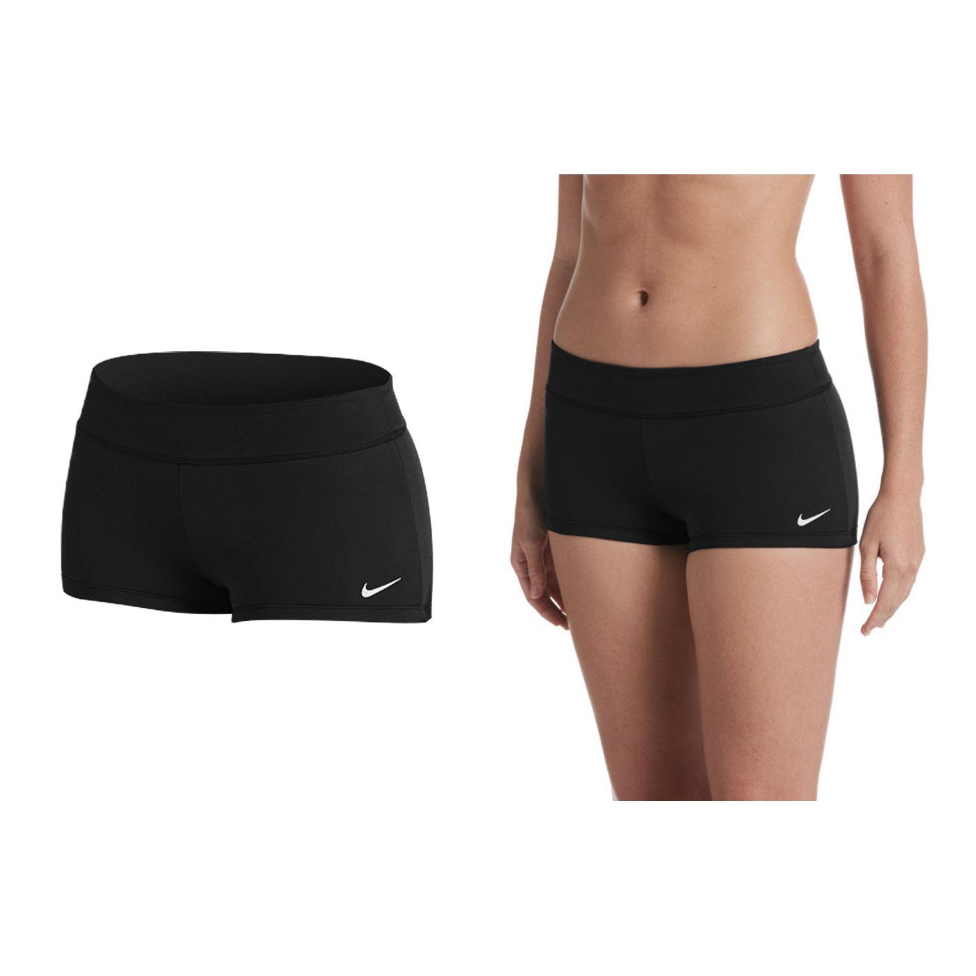 NIKE SWIM 女款游泳短褲 NESS8262-001 - 黑白