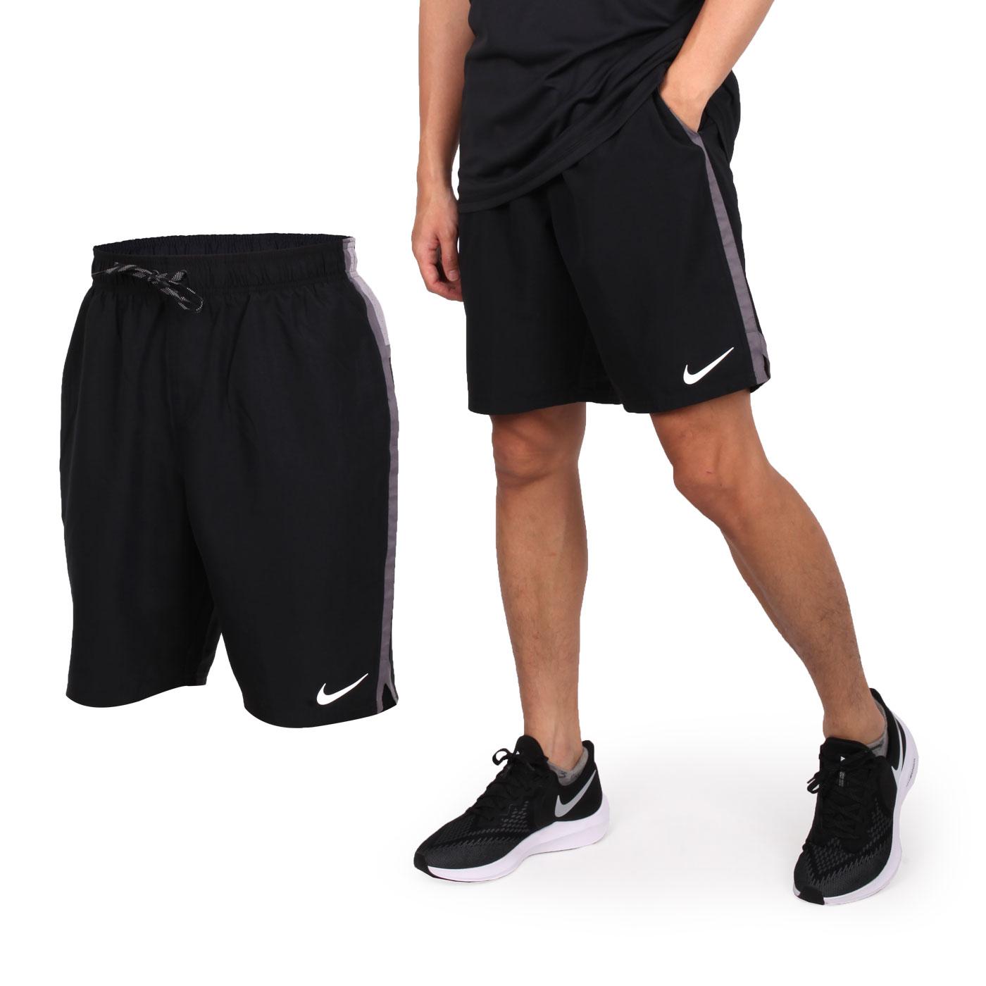 NIKE SWIM 男款9吋海灘褲 NESS9401-001 - 黑灰白