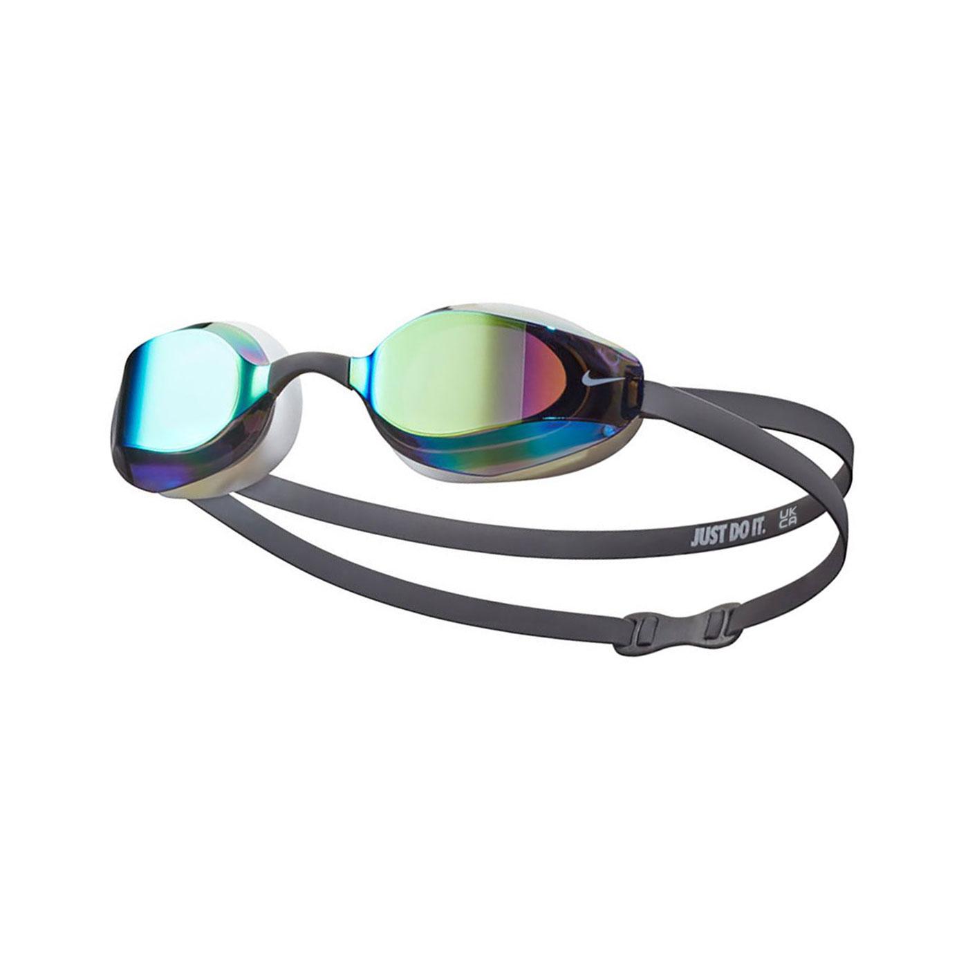 NIKE 成人專業型鏡面泳鏡 NESSA176-018 - 深灰白