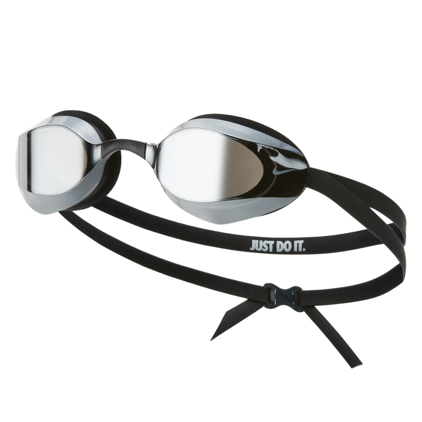 NIKE SWIM 成人專業型鏡面泳鏡 NESSA176-040 - 黑白
