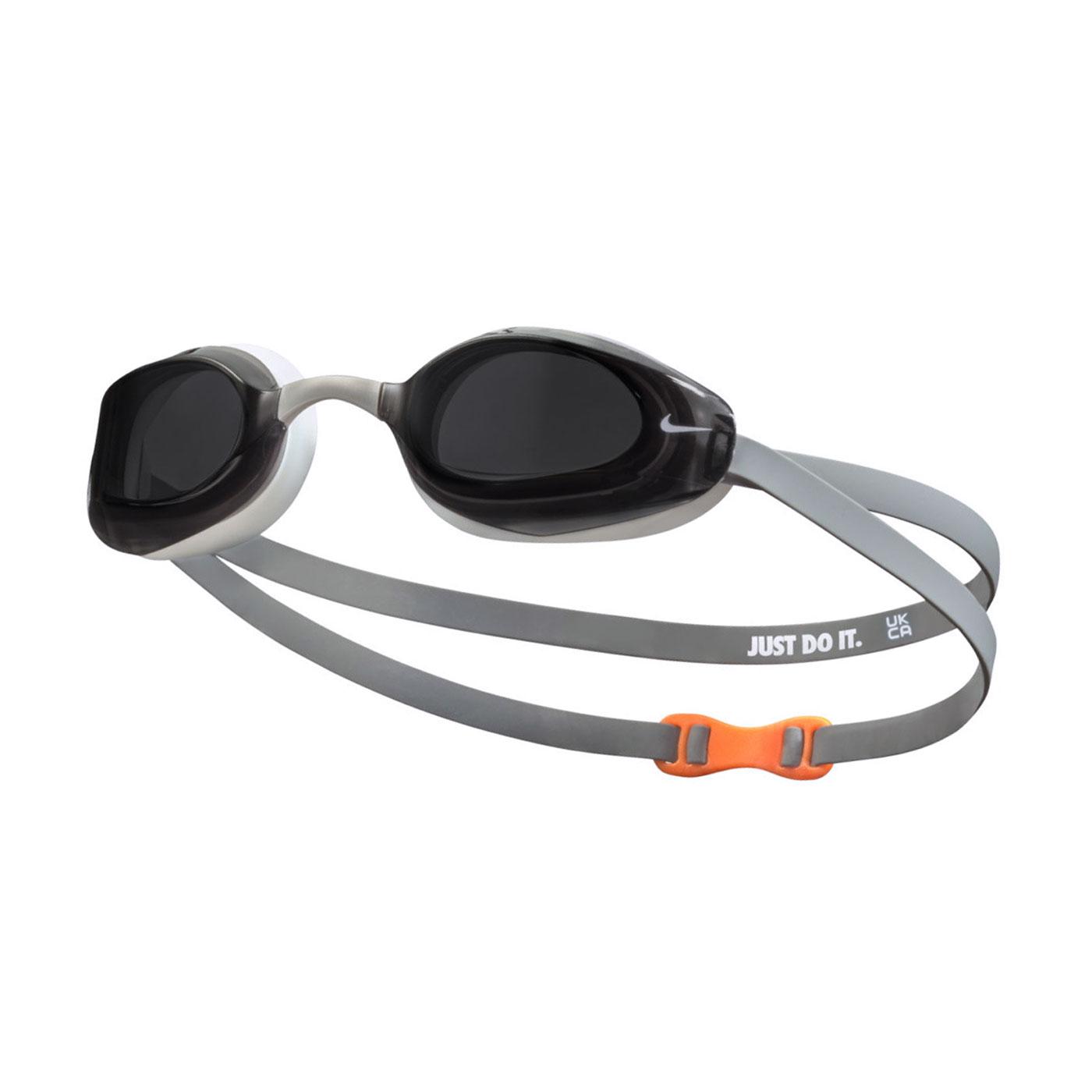 NIKE 成人專業型泳鏡 NESSA177-014 - 黑白