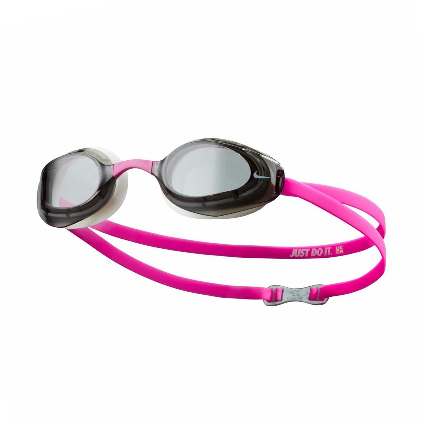 NIKE 成人專業型泳鏡 NESSA177-079 - 黑白桃紅