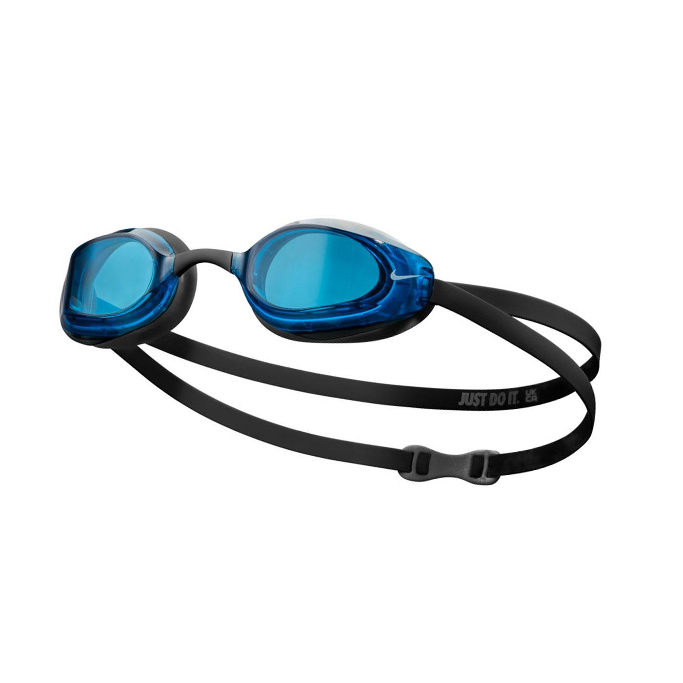 NIKE 成人專業型泳鏡 NESSA177-400 - 黑藍