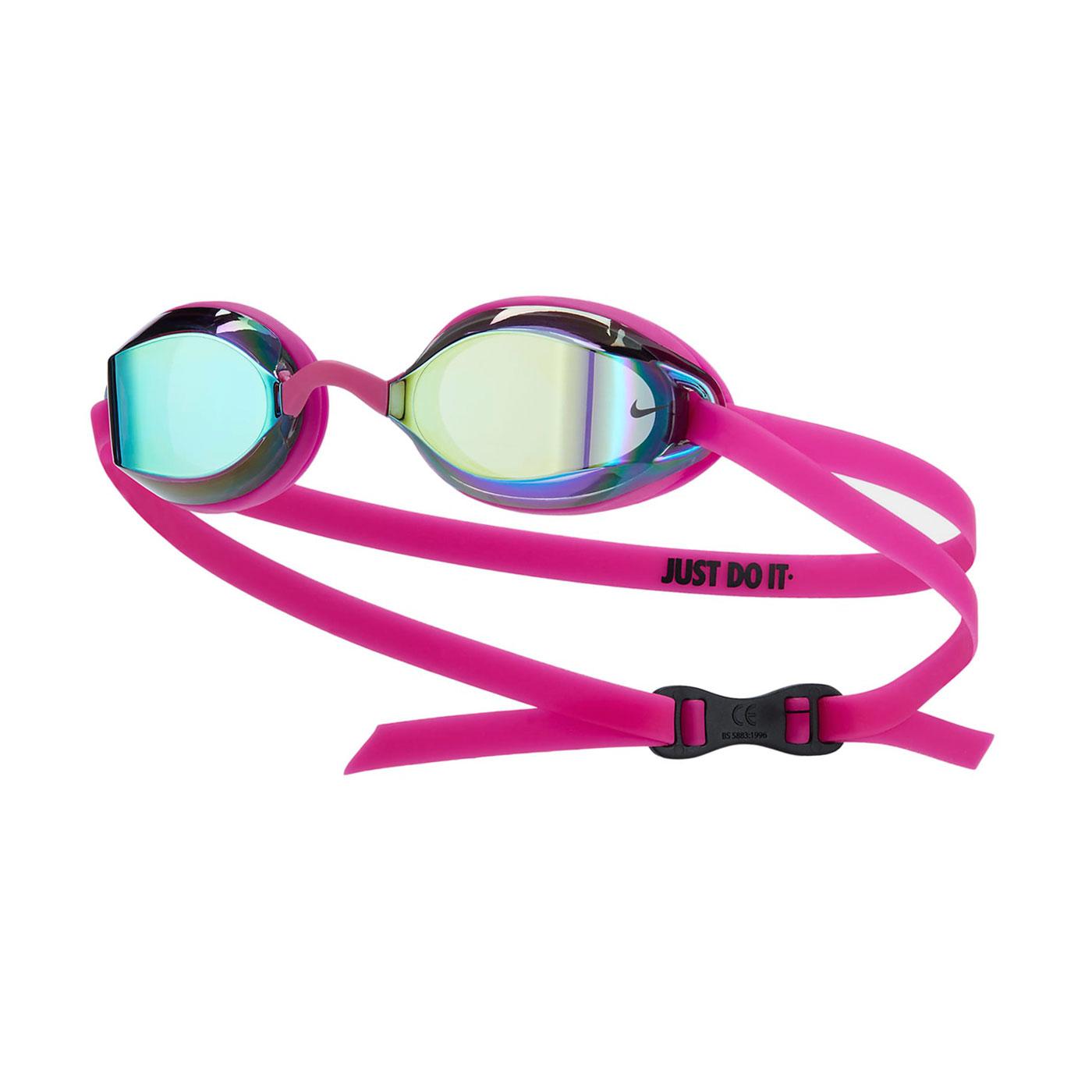 NIKE SWIM 成人專業型鏡面泳鏡 NESSA178-710 - 桃紅