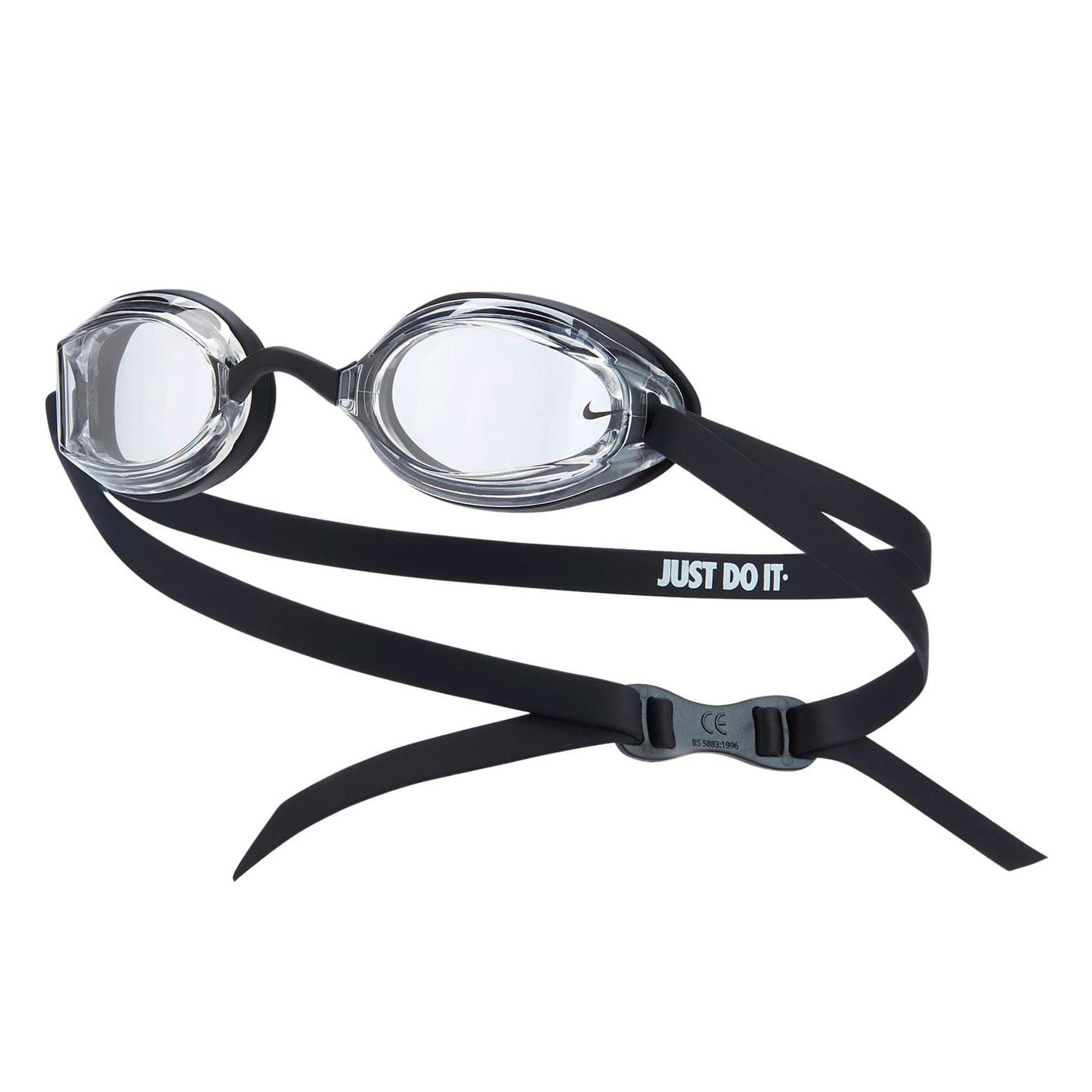 NIKE SWIM 成人專業型泳鏡 NESSA179-006 - 黑白