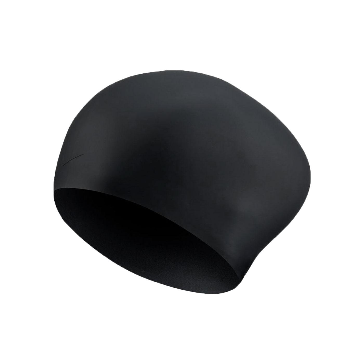 NIKE SWIM 成人長髮用矽膠泳帽 NESSA198-001 - 黑