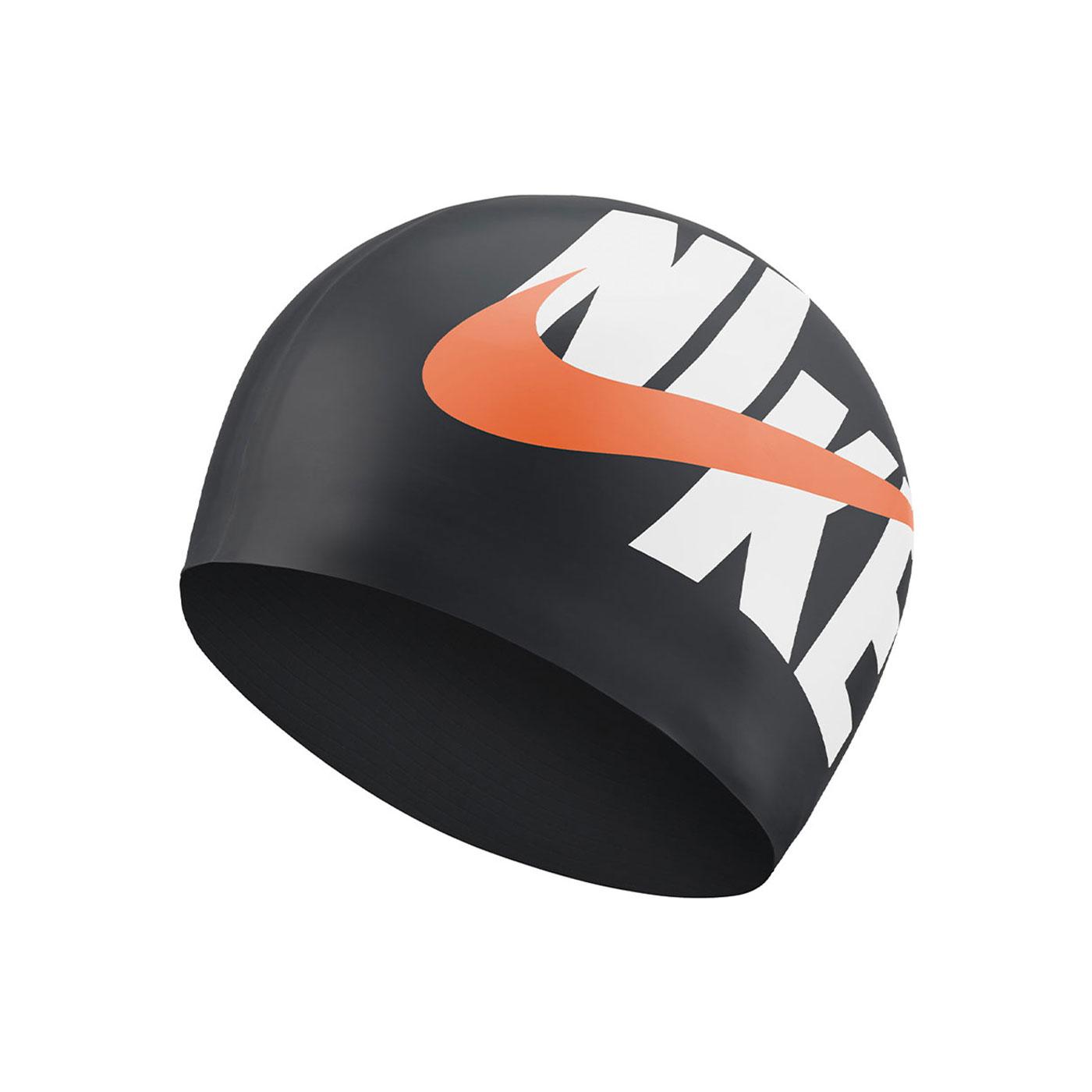 NIKE SWIM 成人矽膠泳帽 NESSA203-001 - 黑白橘