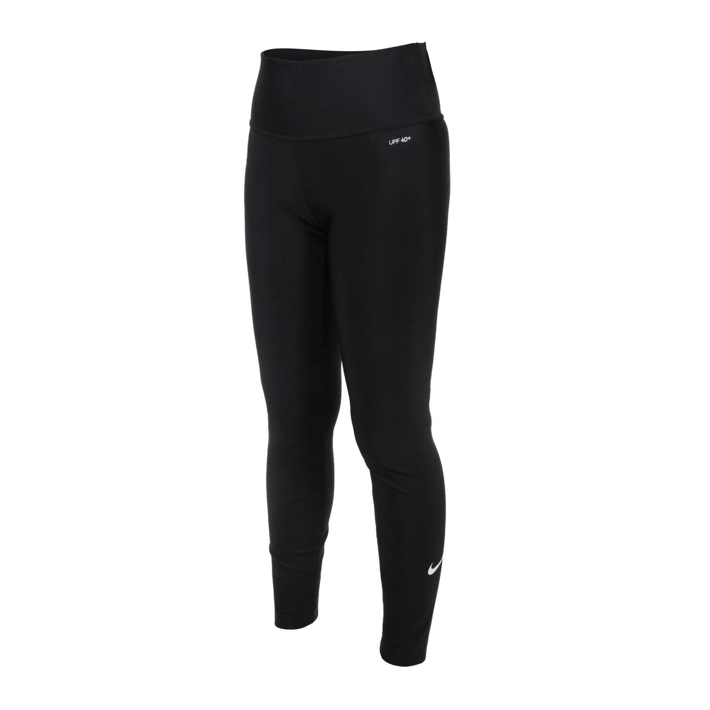NIKE SWIM 女款成人長版泳褲 NESSA442-001 - 黑白