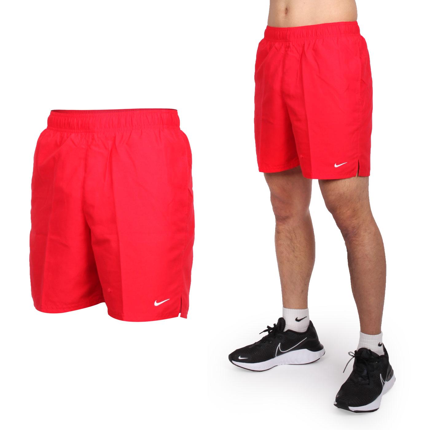 NIKE SWIM 男款七吋海灘褲 NESSA559-440 - 紅白