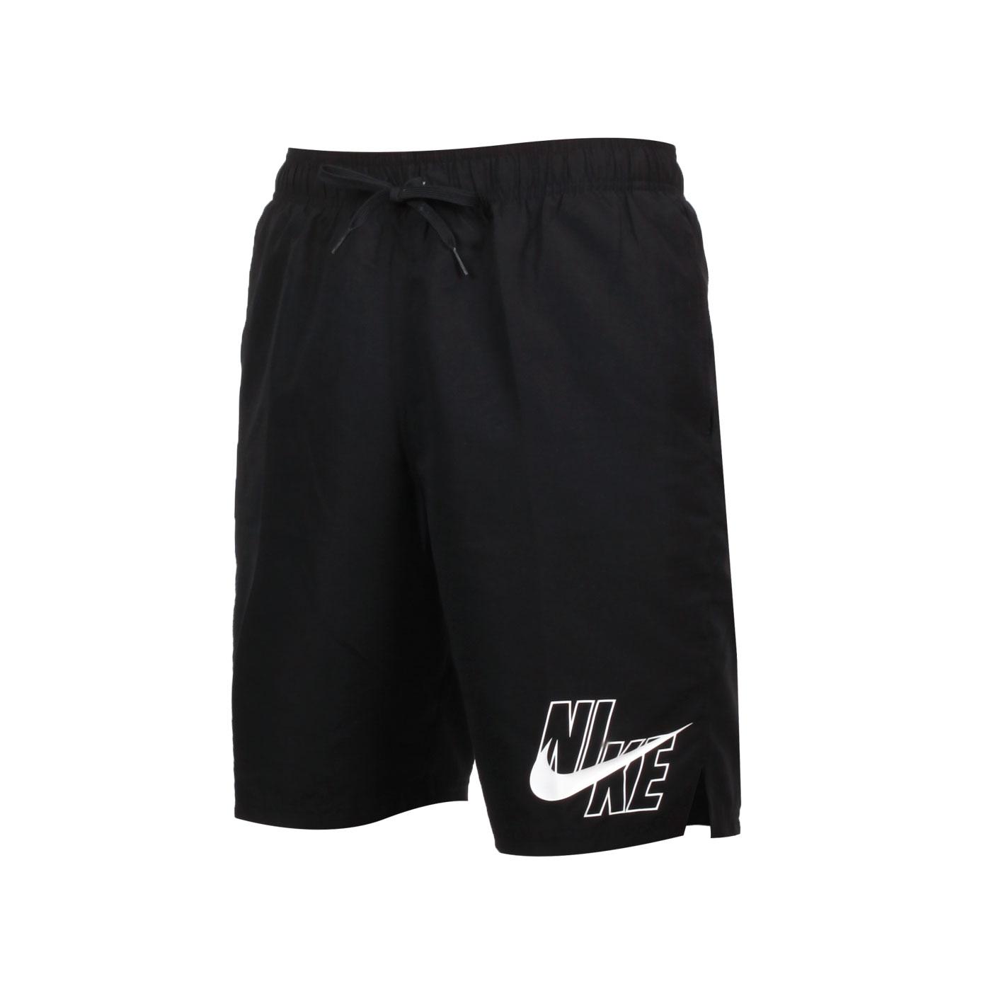 NIKE SWIM 男款九吋海灘褲 NESSA565-001 - 黑白