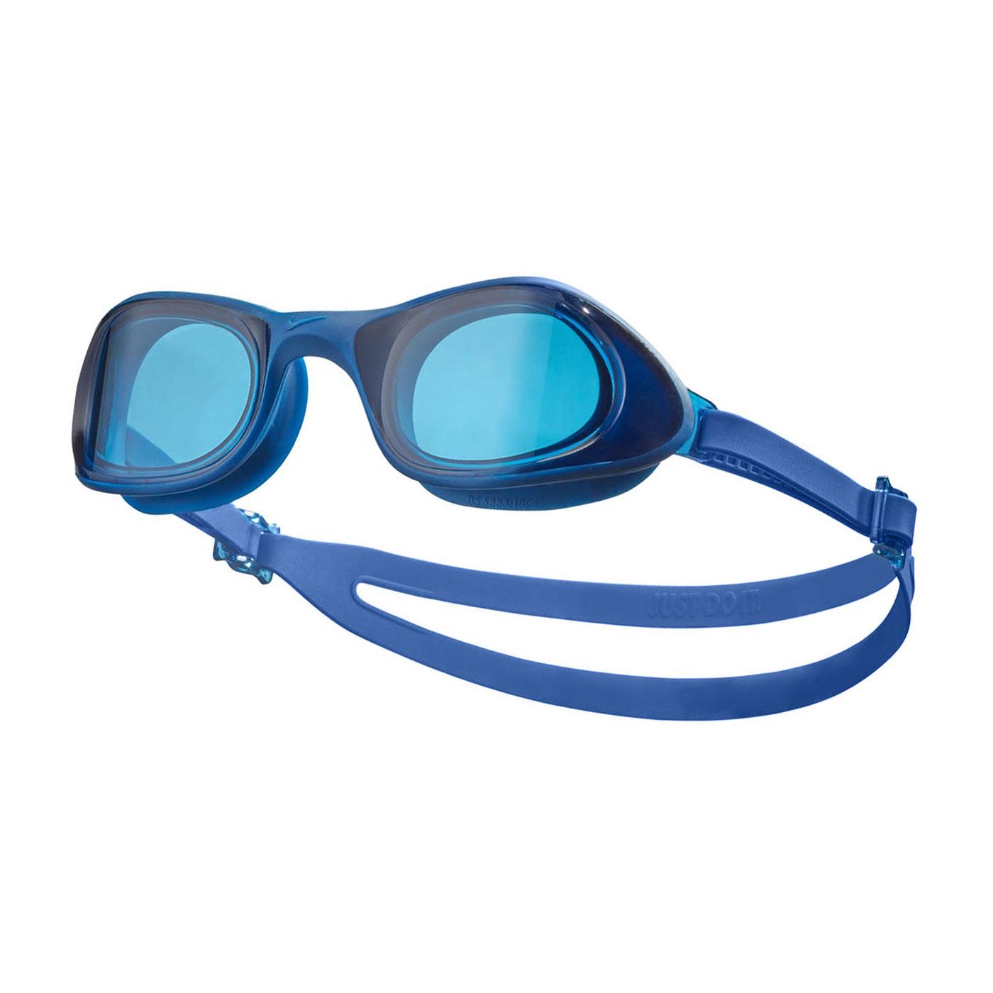 NIKE SWIM 成人超廣角泳鏡 NESSB161-400 - 藍