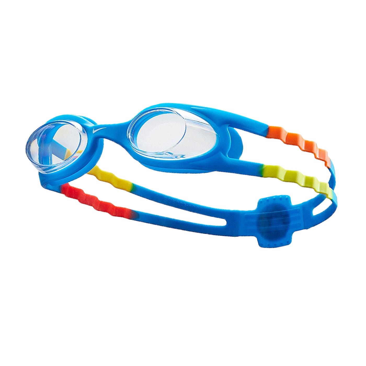 NIKE SWIM 兒童休閒泳鏡 NESSB166-401 - 寶藍黃橘