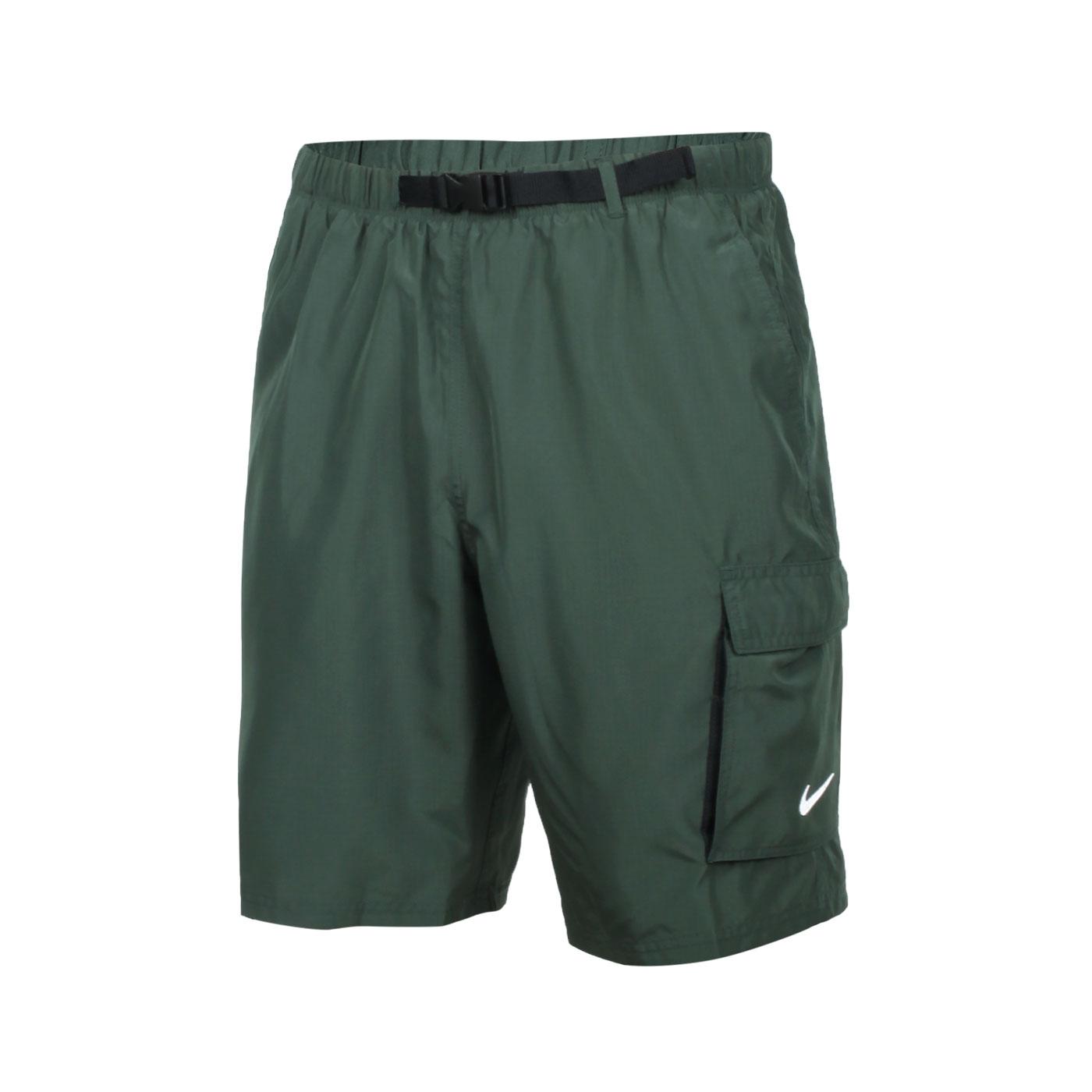 NIKE 男款成人九吋海灘褲 NESSB521-303 - 軍綠白
