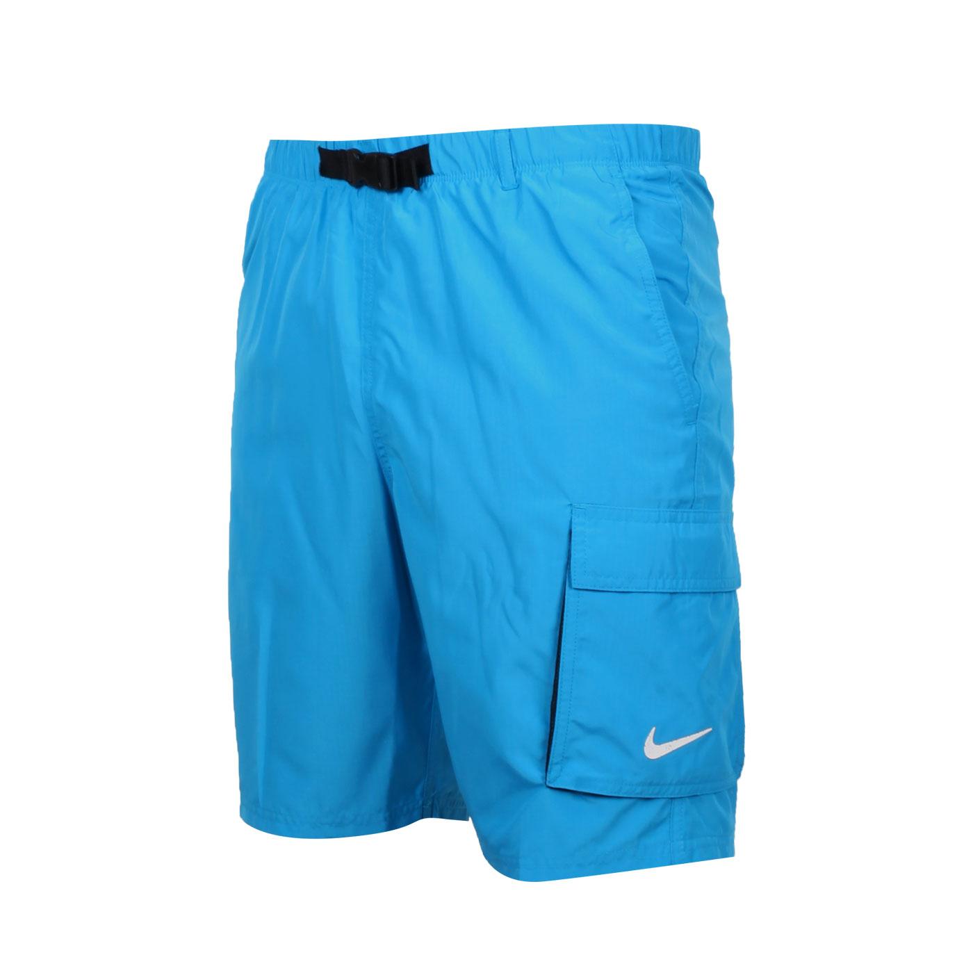 NIKE 男款成人九吋海灘褲 NESSB521-406 - 寶藍白