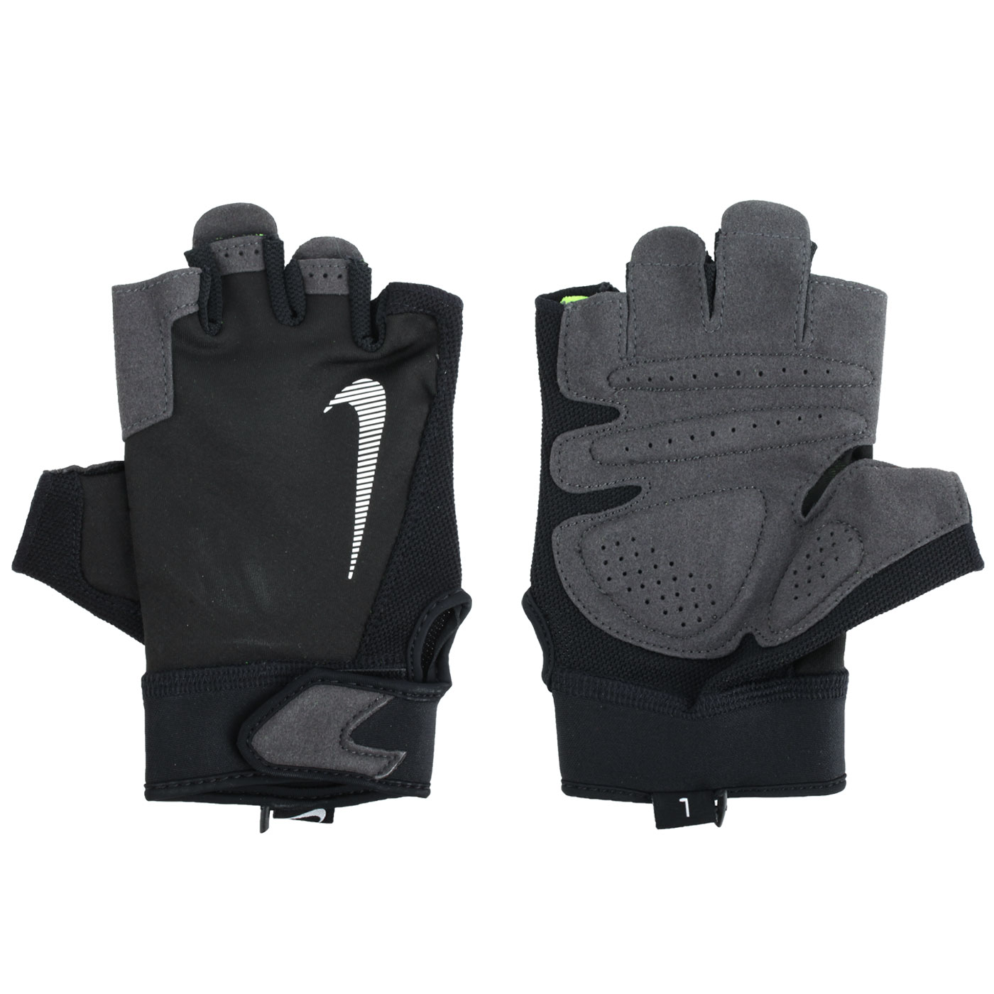 NIKE 男款終極健身手套 NLGC2017LG - 黑白