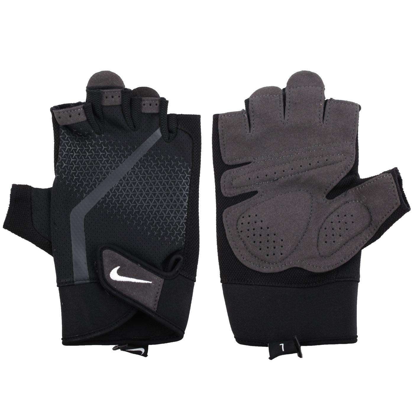 NIKE 男款健力手套 NLGC4945MD - 黑灰白
