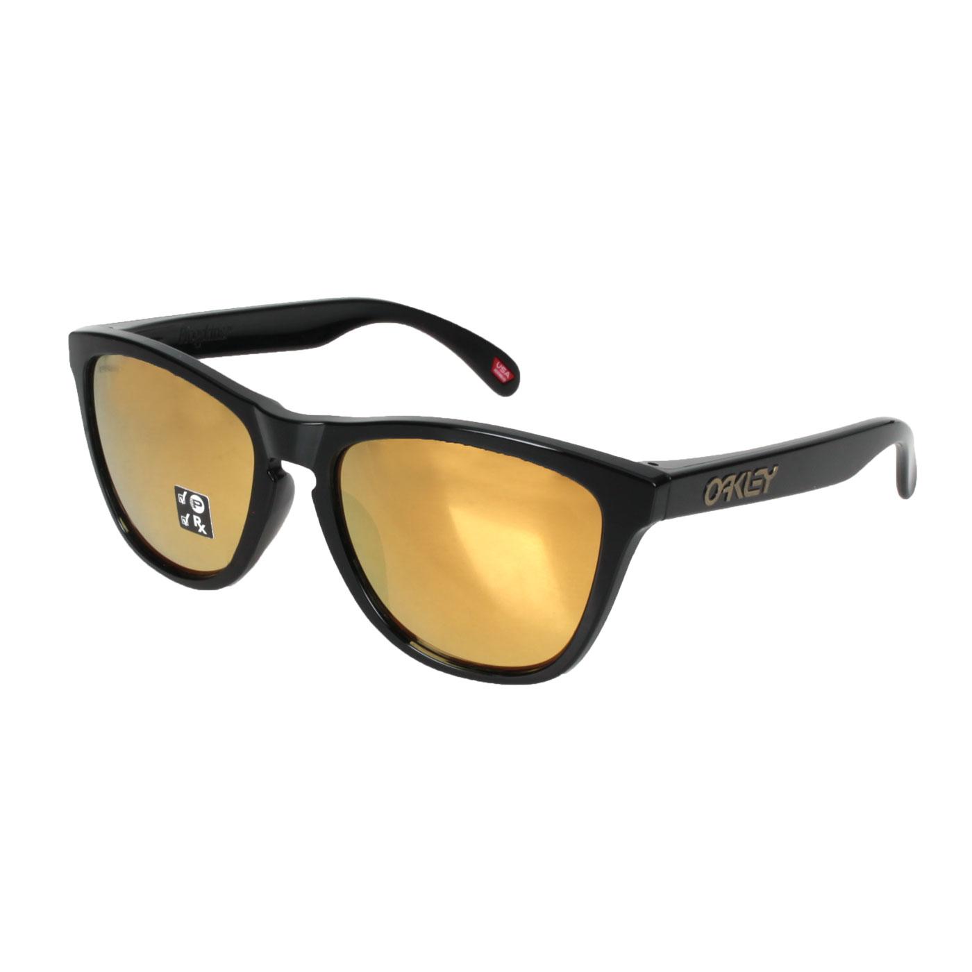 OAKLEY FROGSKINS(A) 偏光太陽眼鏡 OAK-OO9245-C054 - 黑金