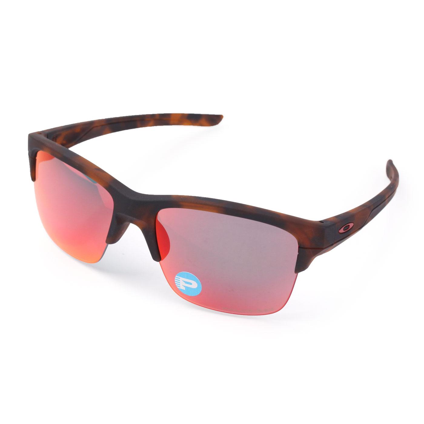 OAKLEY THINLINK  偏光運動休閒兩用太陽眼鏡 (附鏡袋無鼻墊) OAK-OO9317-06 - 咖啡紅