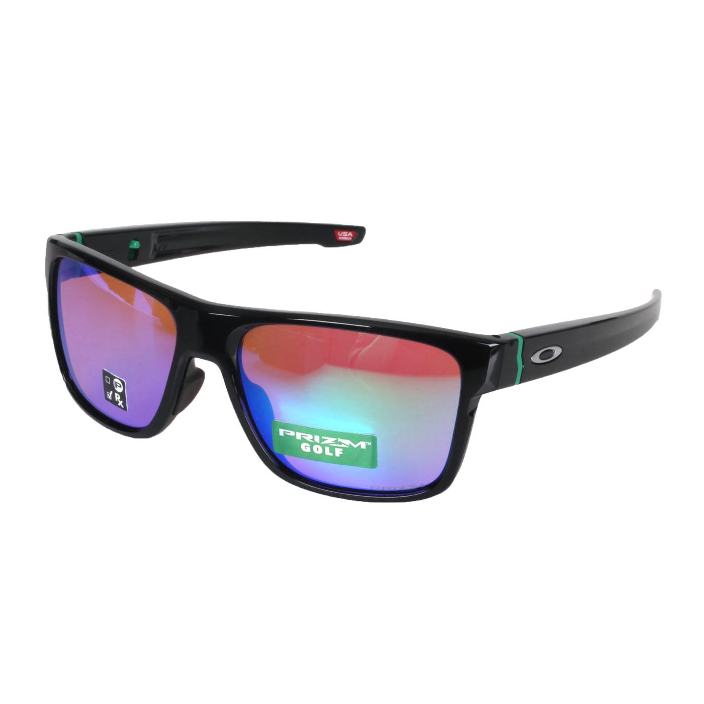 OAKLEY CROSSRANGE一般太陽眼鏡(附鏡袋) OAK-OO9371-1257 - 黑藍綠