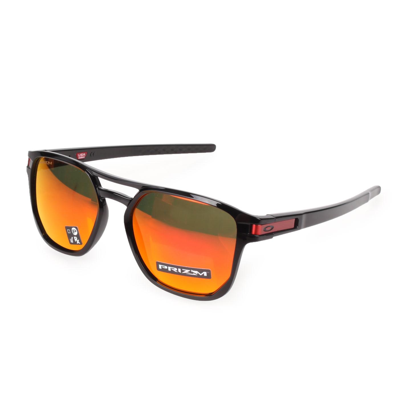 OAKLEY LATCH BETA 一般太陽眼鏡(附鏡袋無鼻墊) OAK-OO9436-0754 - 黑紅