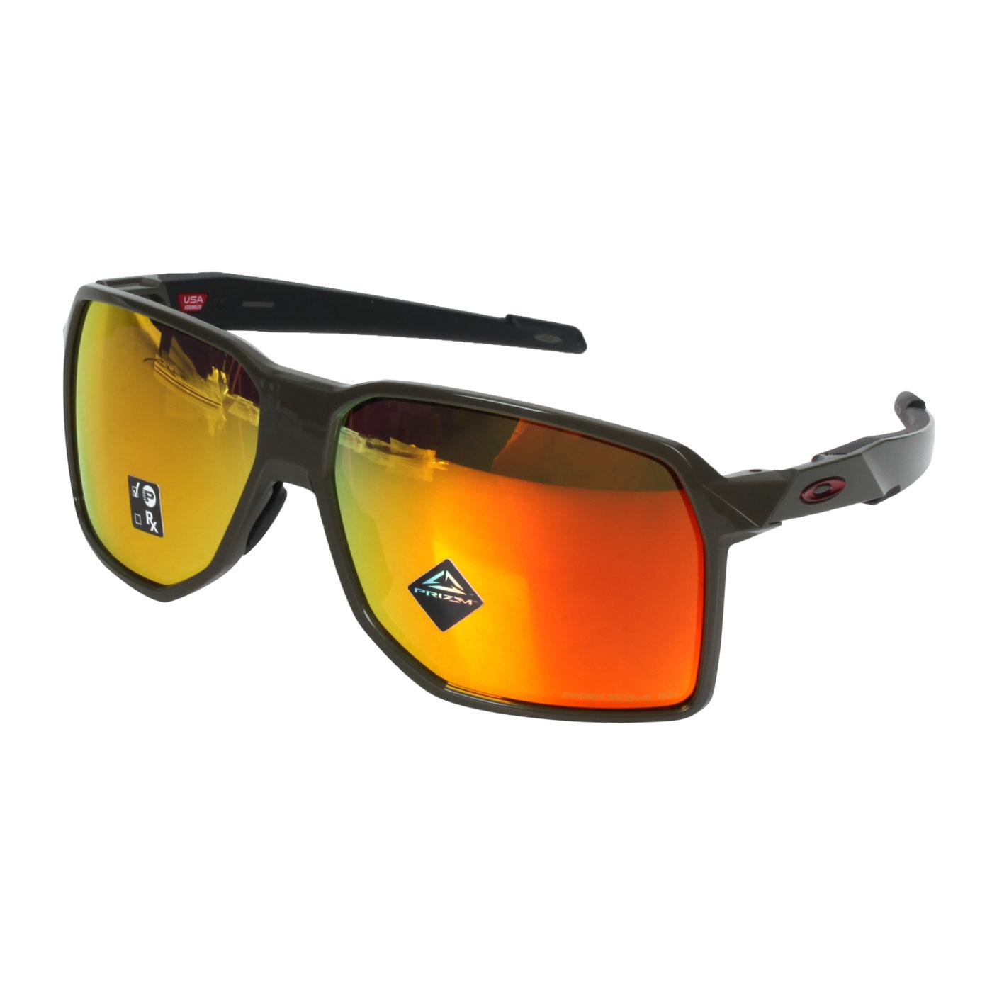OAKLEY PORTAL 偏光太陽眼鏡(附鼻墊) OAK-OO9446-0362 - 深軍綠紅