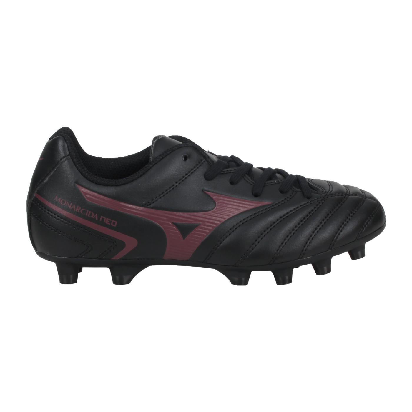 MIZUNO 兒童足球鞋-WIDE  @MONARCIDA NEO II SELECT Jr@P1GB210500 - 黑暗紅