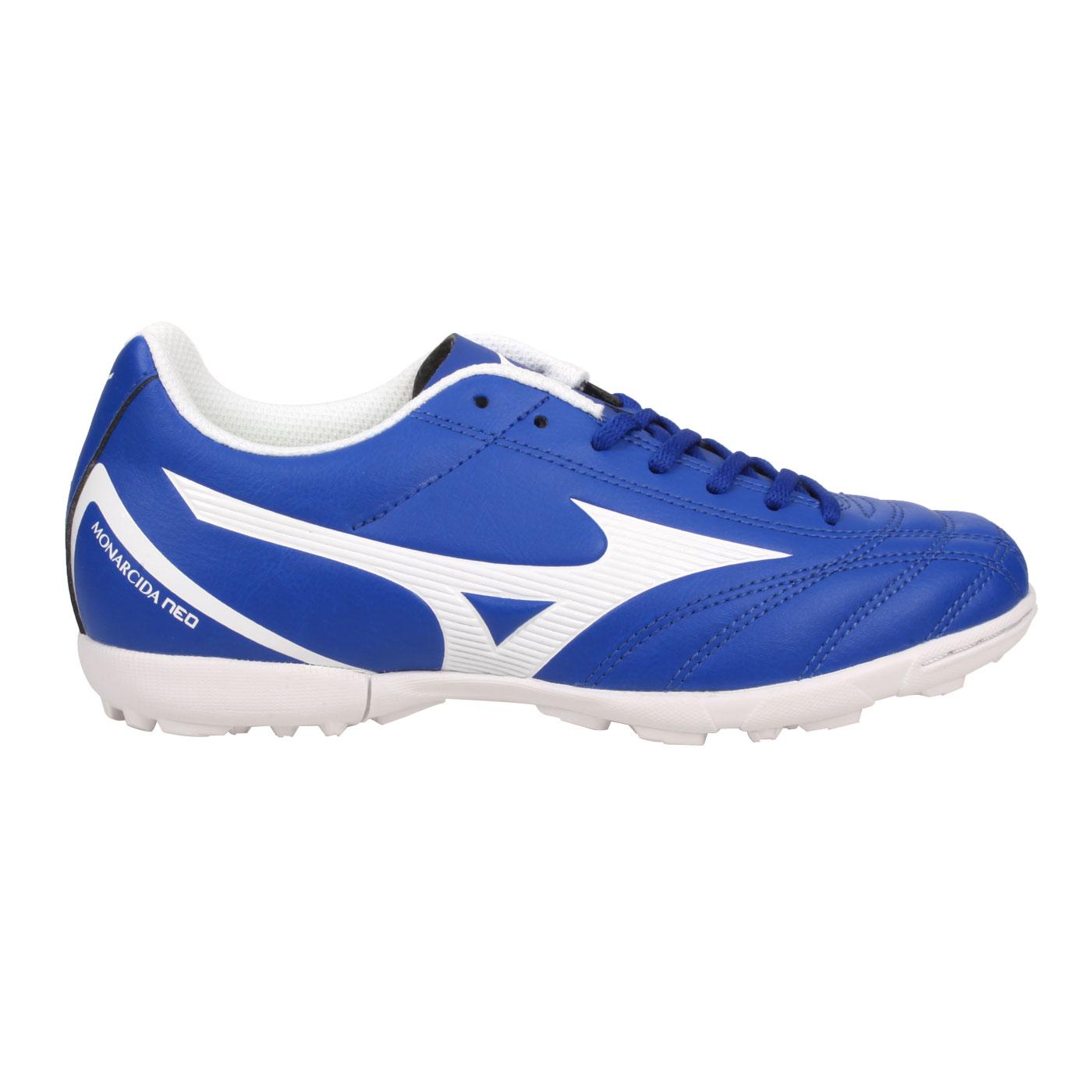 MIZUNO 大童足球鞋-WIDE  @MONARCIDA NEO SELECT JR AS@P1GE202501 - 藍白