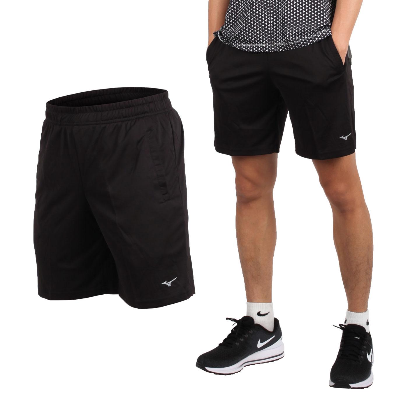 MIZUNO 男款足球短褲 P2TB8A0409 - 黑銀