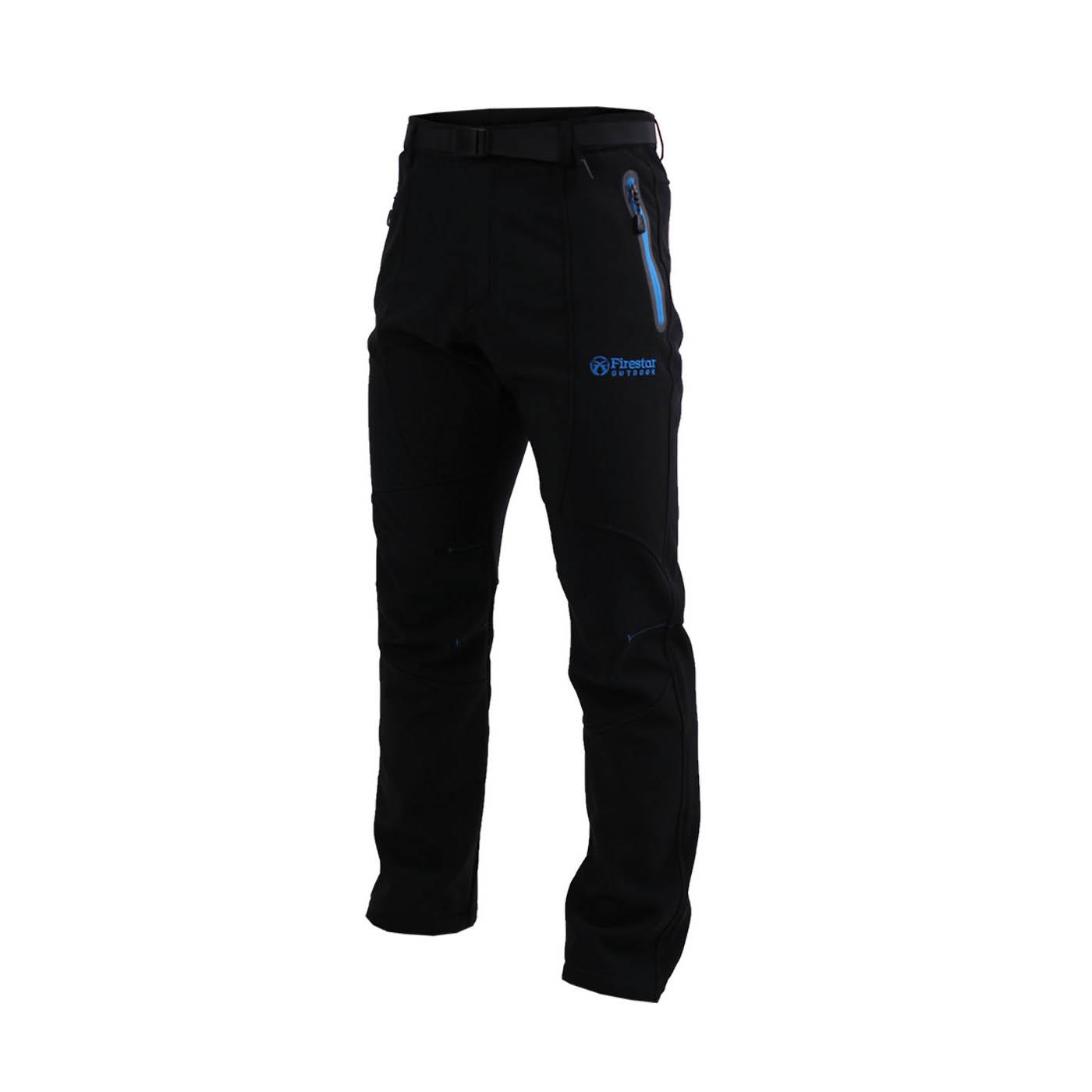 FIRESTAR 男款彈性平織磨毛裏長褲 P6573-40 - 黑寶藍