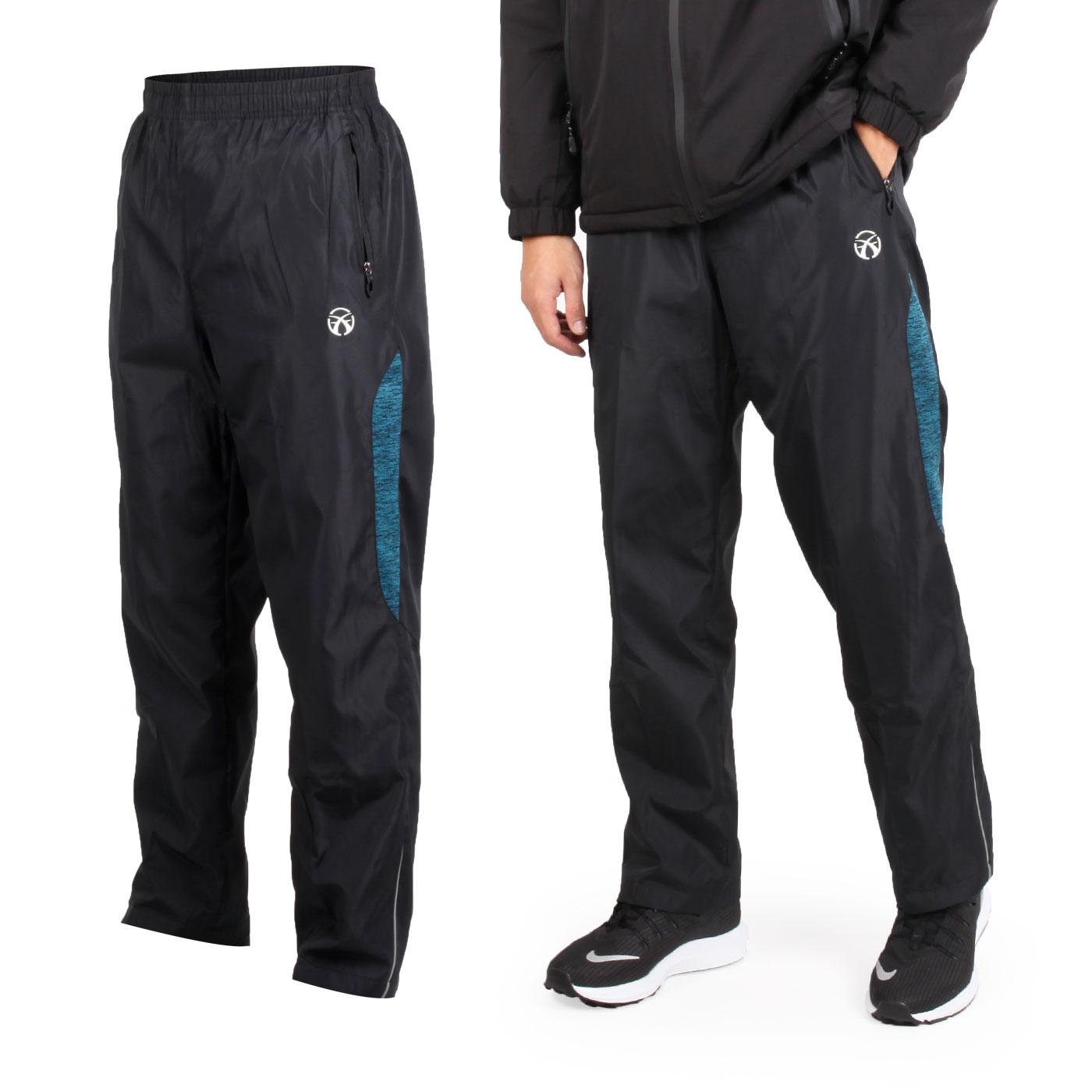FIRESTAR 男款防風平織長褲 P8170-17 - 黑白藍綠