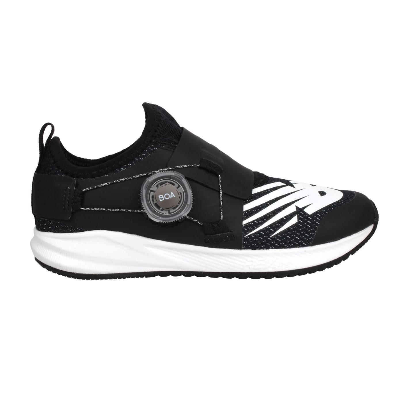 NEW BALANCE 中童旋鈕慢跑鞋-WIDE PKRVLCT2 - 黑白