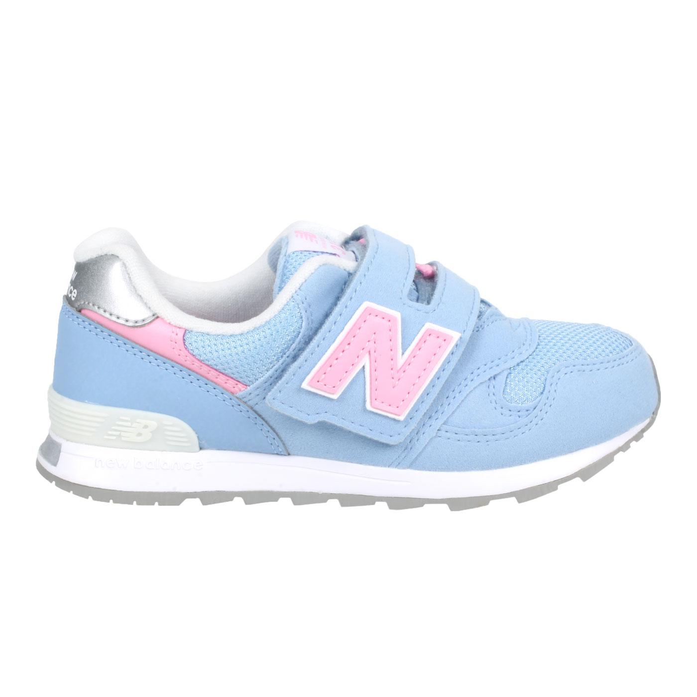 NEW BALANCE 中童休閒運動鞋 PO313UP - 藍粉銀