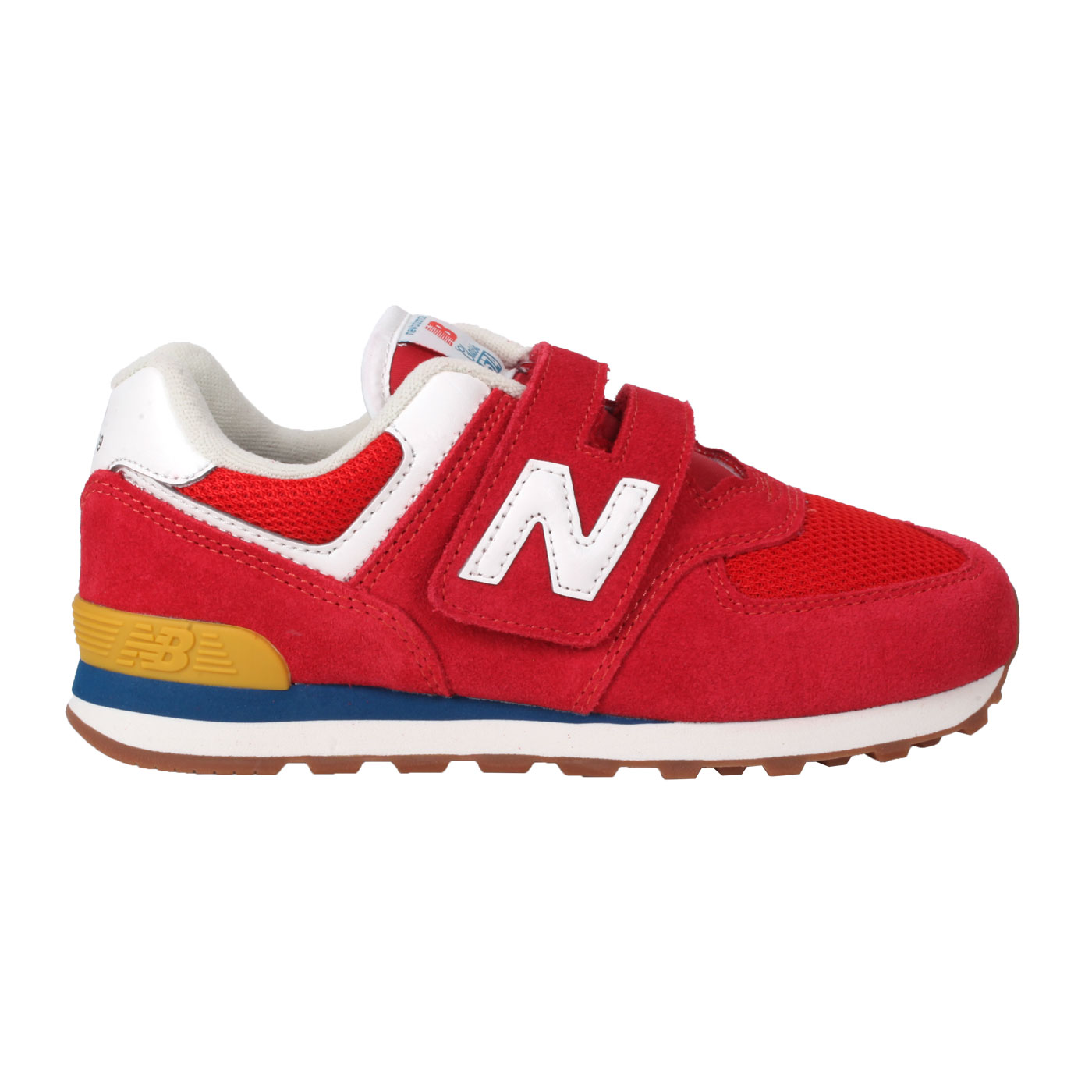 NEW BALANCE 中童休閒運動鞋-WIDE PV574HA2 - 紅藍白卡其