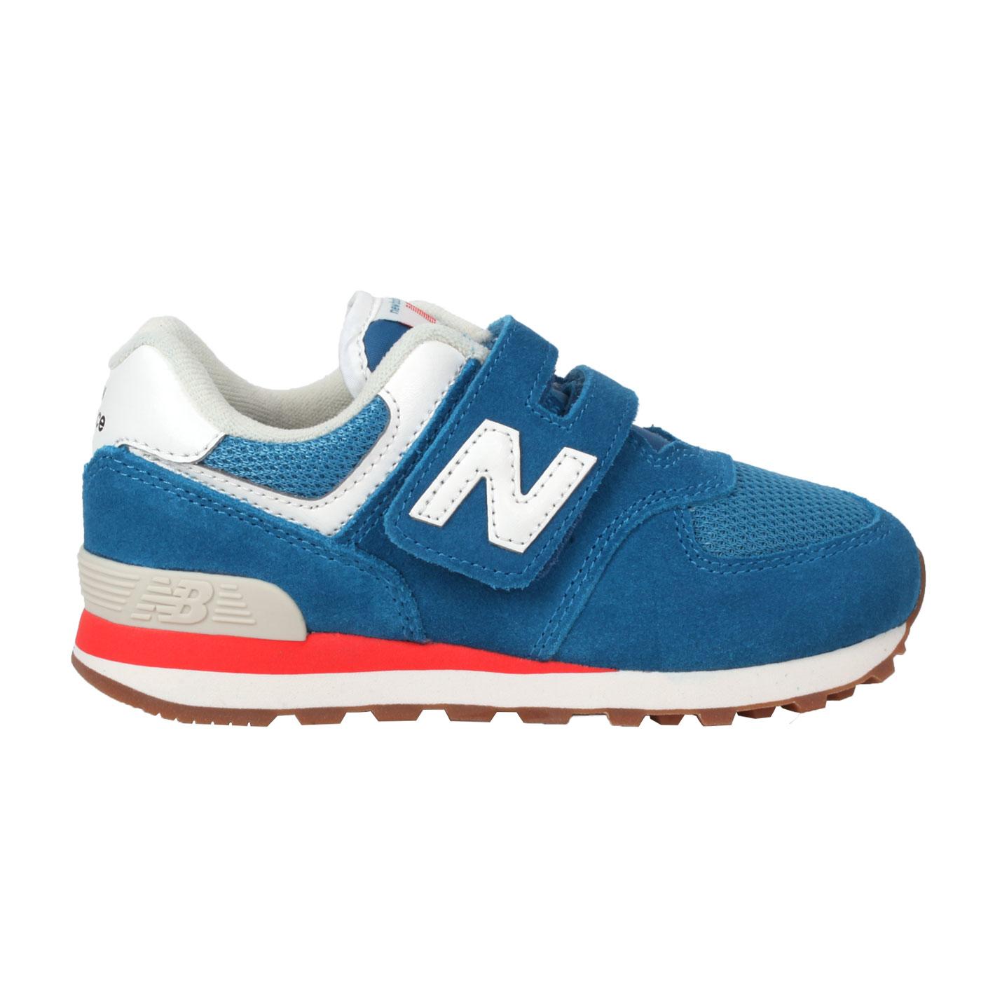 NEW BALANCE 中童休閒運動鞋-WIDE PV574HC2 - 藍白紅