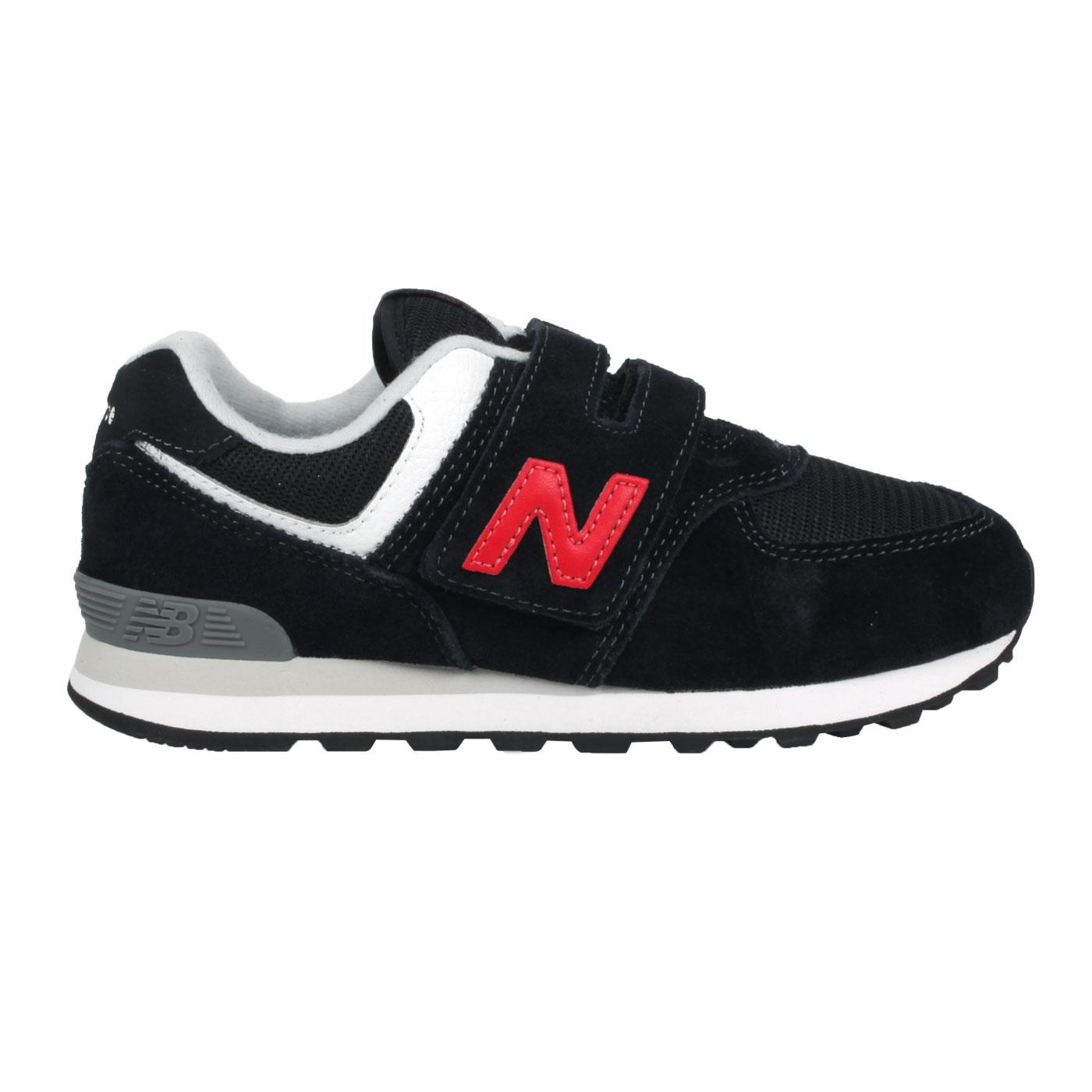 NEW BALANCE 中童休閒運動鞋-WIDE PV574HY1 - 黑紅白