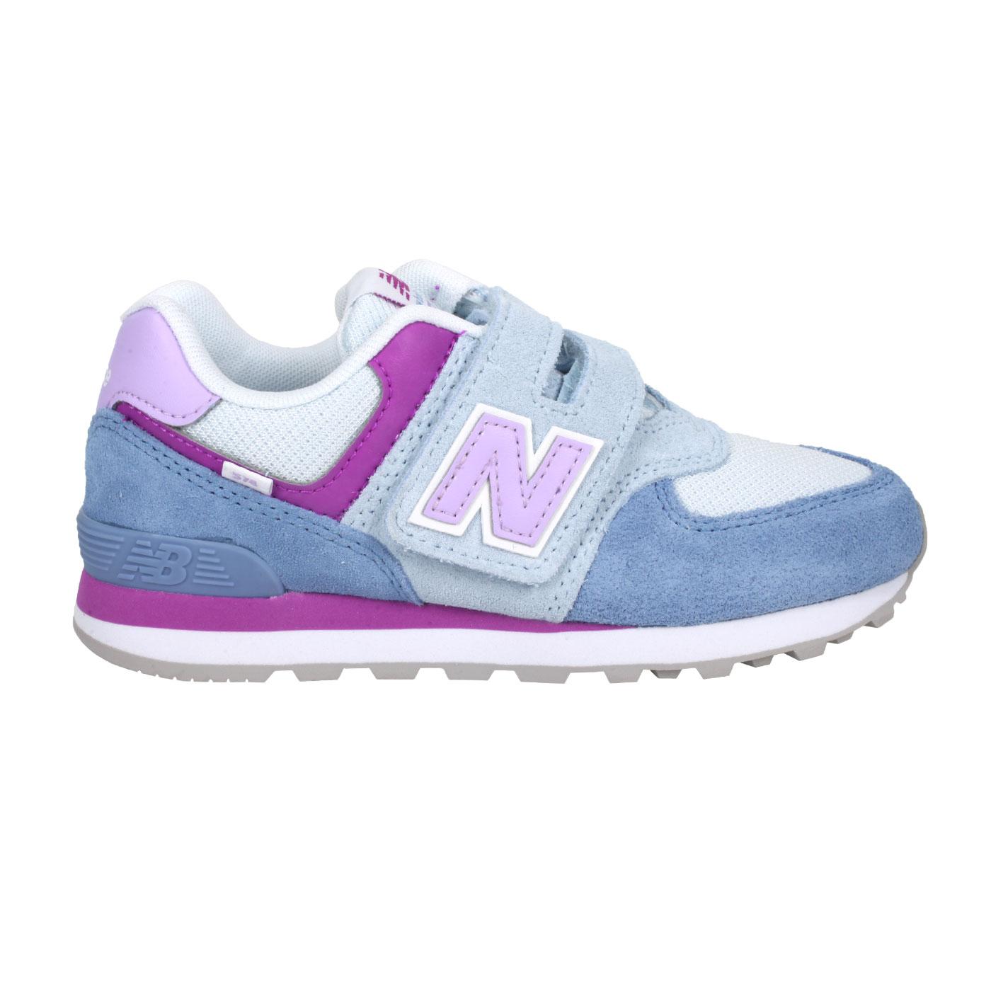 NEW BALANCE 中童休閒運動鞋-WIDE PV574SL2 - 藍紫白