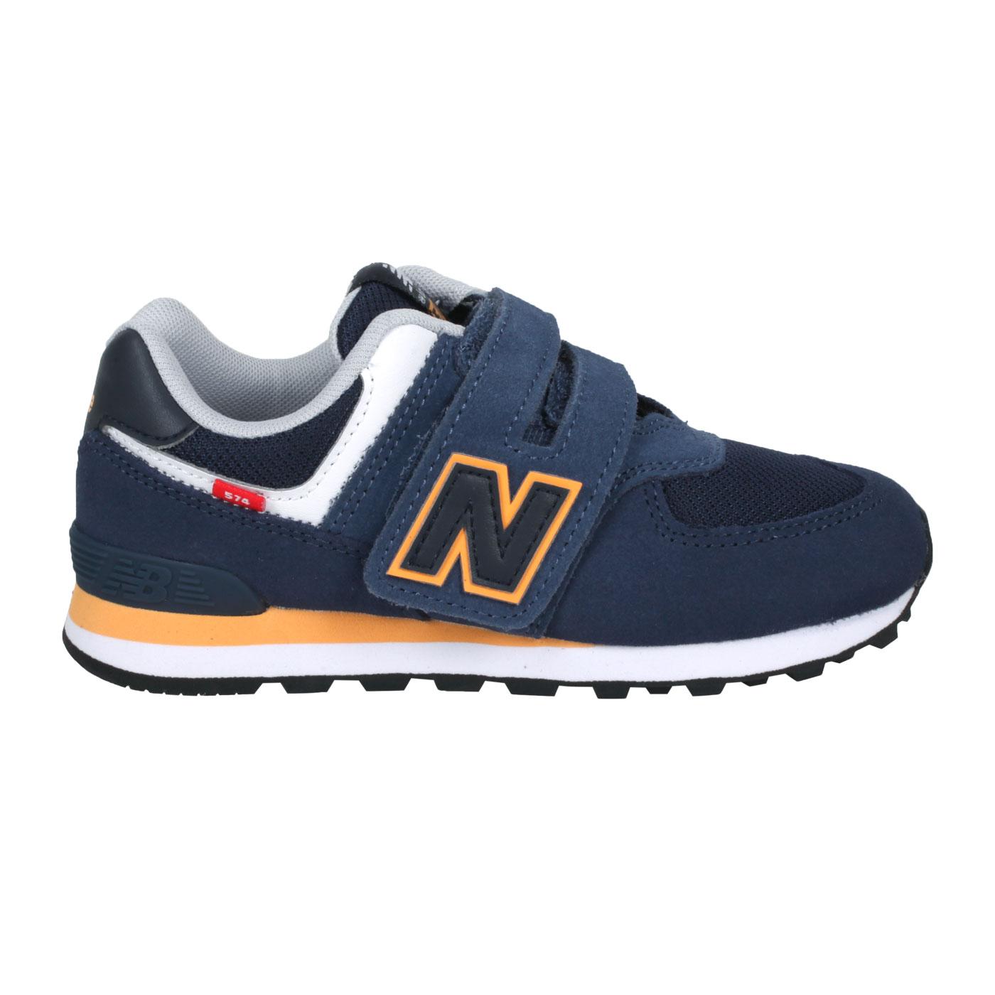 NEW BALANCE 中童休閒運動鞋-WIDE PV574SY2 - 丈青黃黑