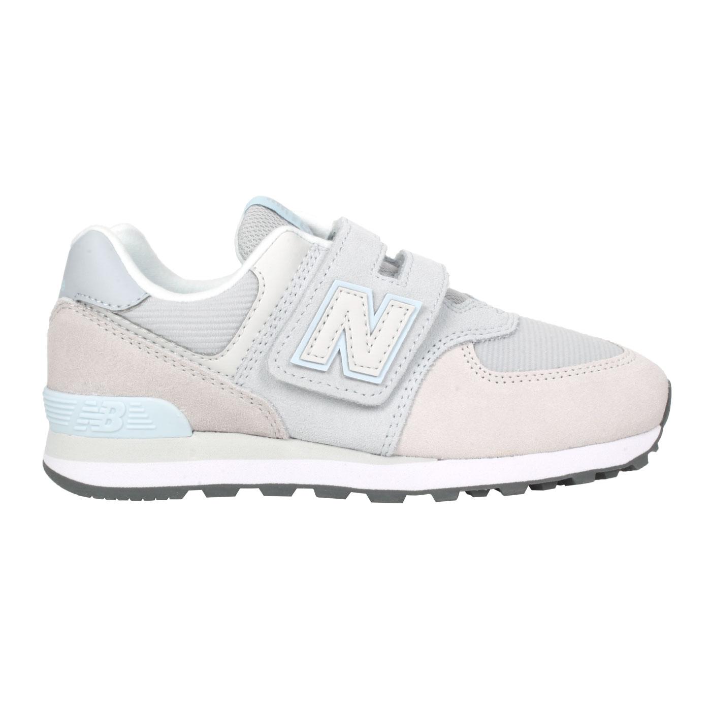 NEW BALANCE 中童休閒運動鞋-WIDE PV574WN1 - 灰水藍