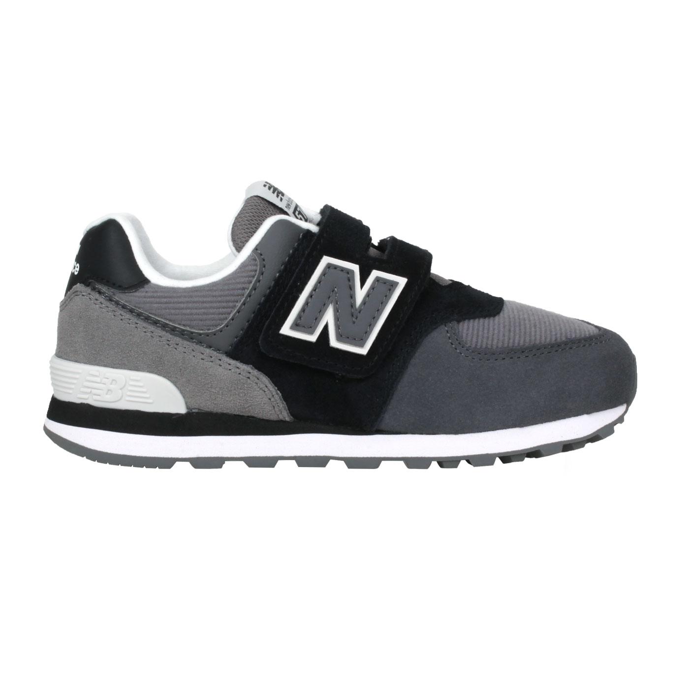 NEW BALANCE 中童休閒運動鞋-WIDE PV574WR1 - 黑灰白
