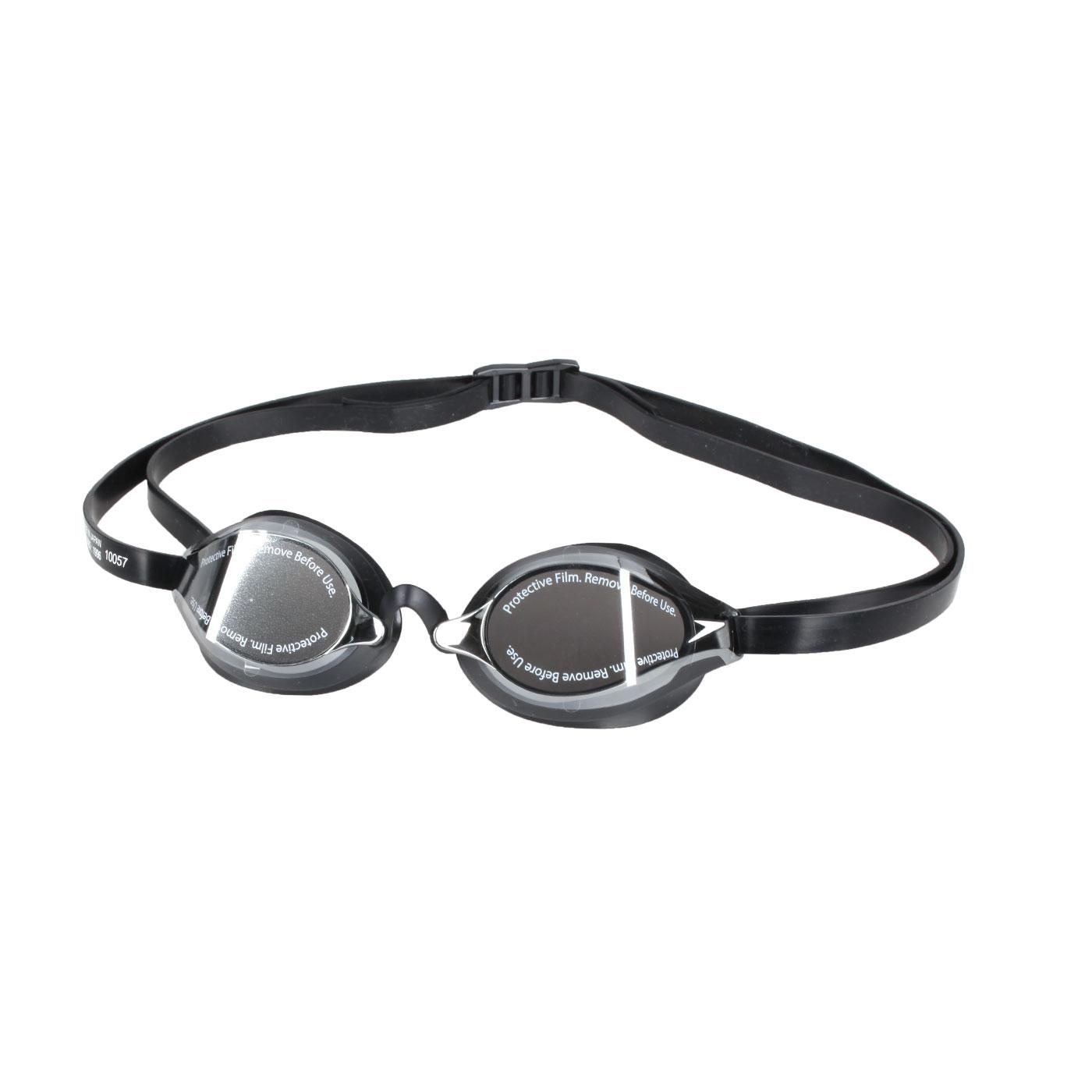 SPEEDO 成人競技鏡面泳鏡 SD8108973515N - 黑銀