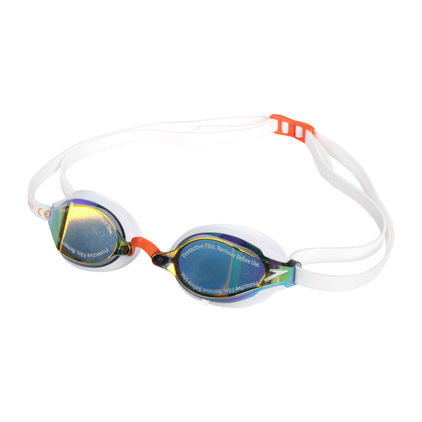 SPEEDO 成人競技泳鏡 SD810897F981 - 白橘